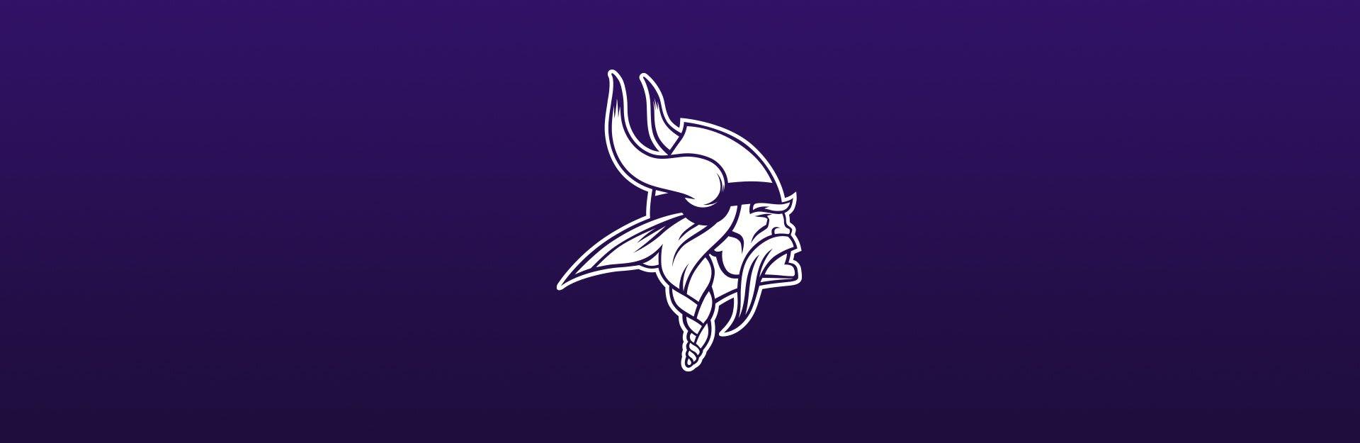 Minnesota Vikings logo on purple background
