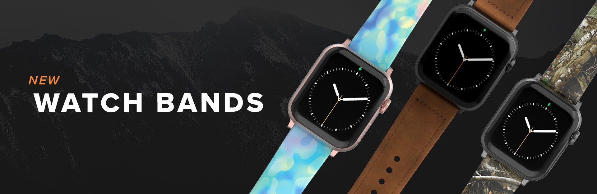 New Watch Bands, featuring Opal, Vulcan Trek and Camo watch bands