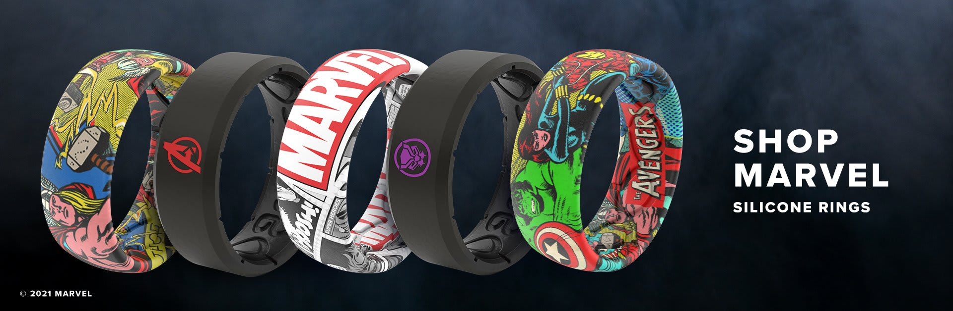 Shop Marvel Silicone Rings