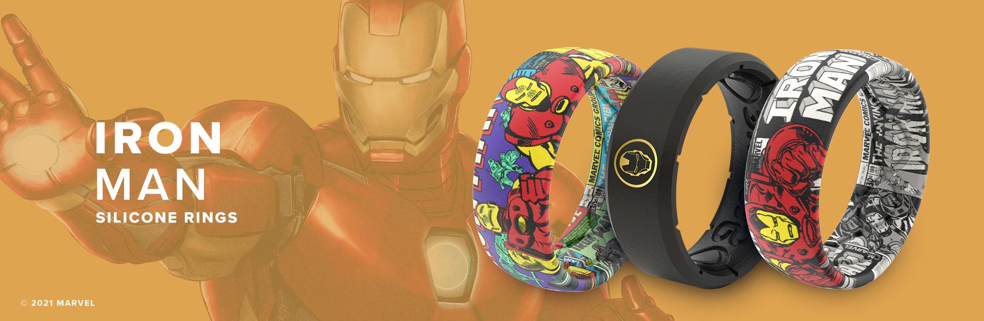 Iron Man Marvel Silicone Rings