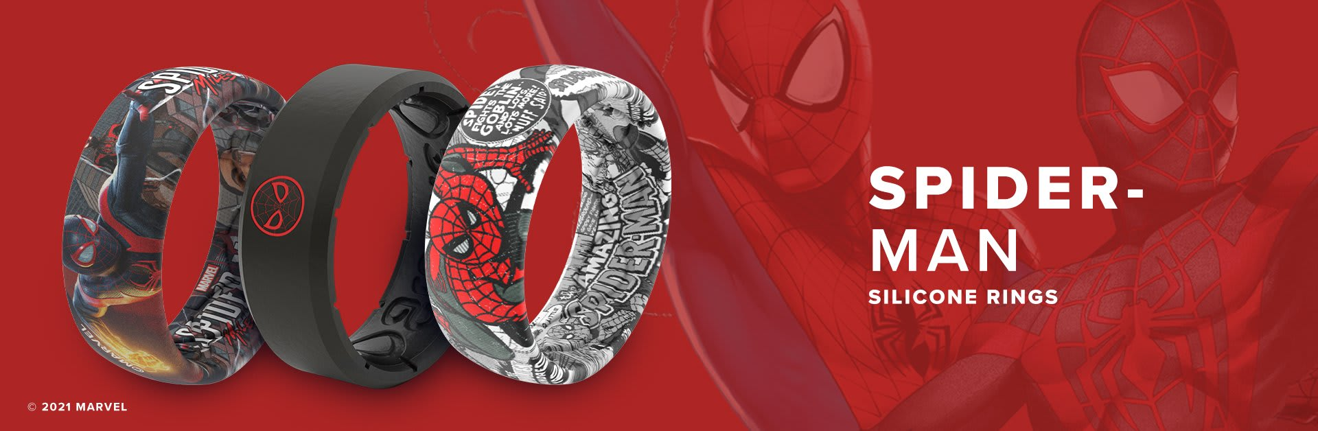 Spider-Man Silicone Rings