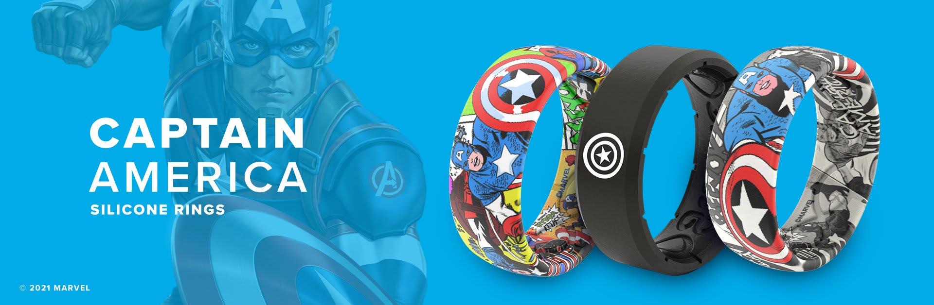 Captain America Silicone Rings
