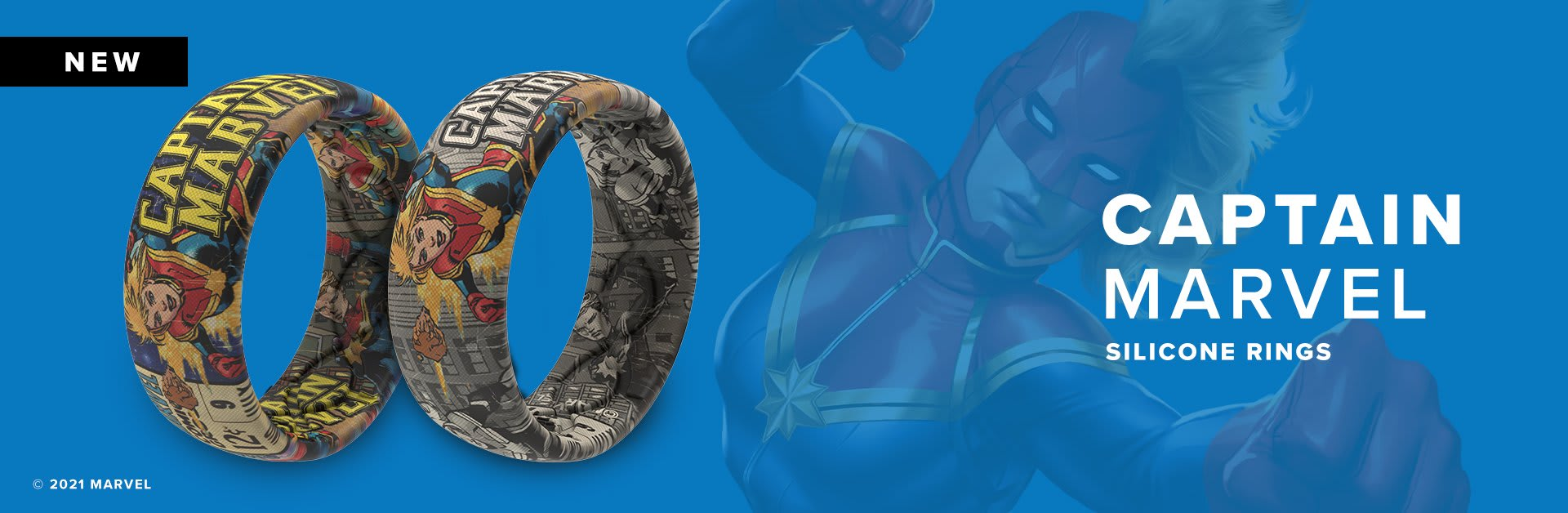 Captain Marvel Silicone Rings