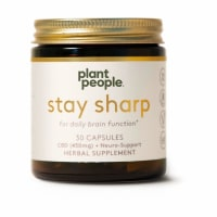 Plant People Stay Sharp CBD Capsules 450MG