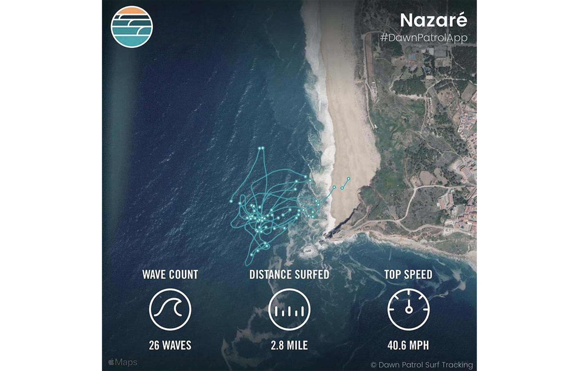 Apple Watch tracks your surf session