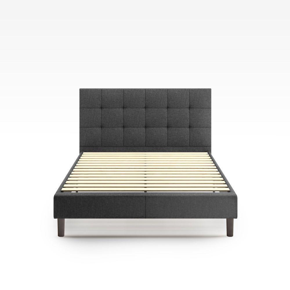 Shop Lottie Upholstered Platform Bed Frame from Zinus on Openhaus