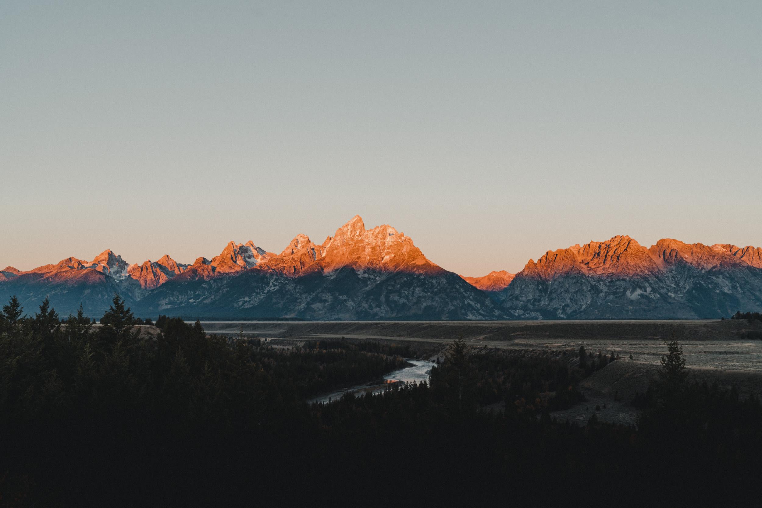 Sunrise over the Teton Range
