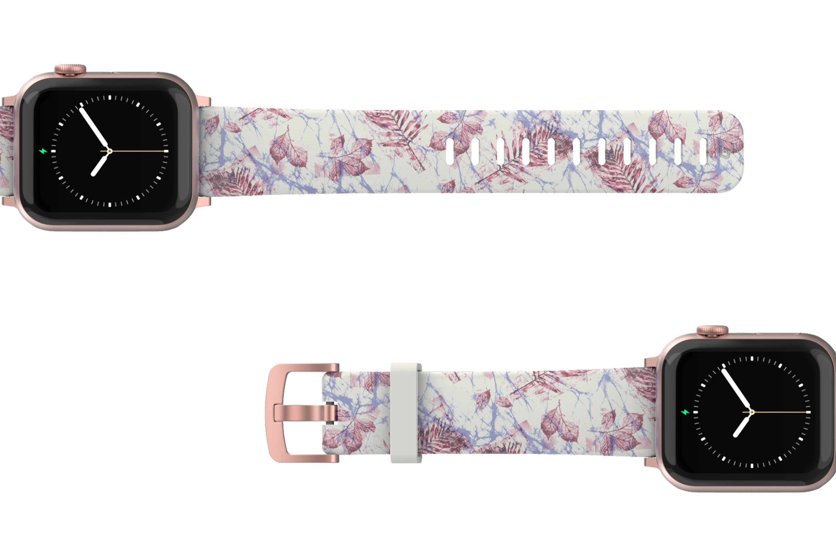 Breeze Apple Watch Band with rose gold hardware viewed top down
