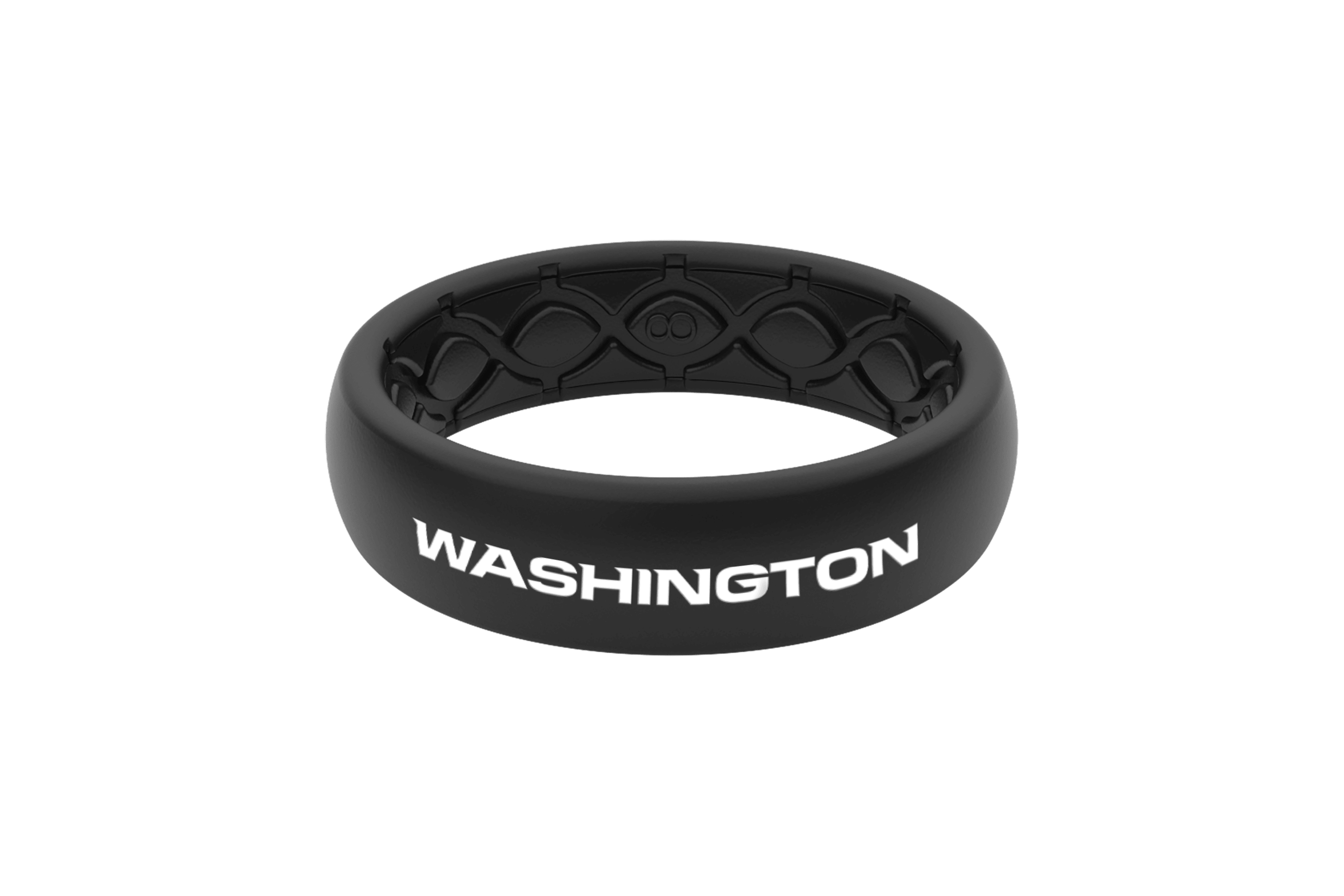 Thin NFL Washington Black - Groove Life Silicone Wedding Rings