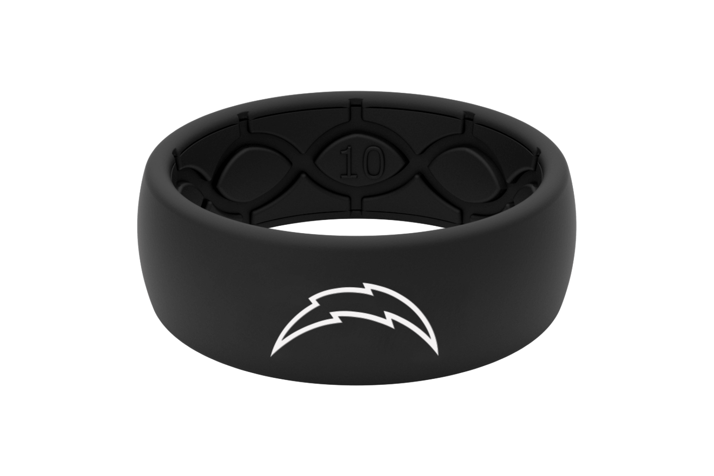 Original NFL Los Angeles Chargers Black - Groove Life Silicone Wedding Rings