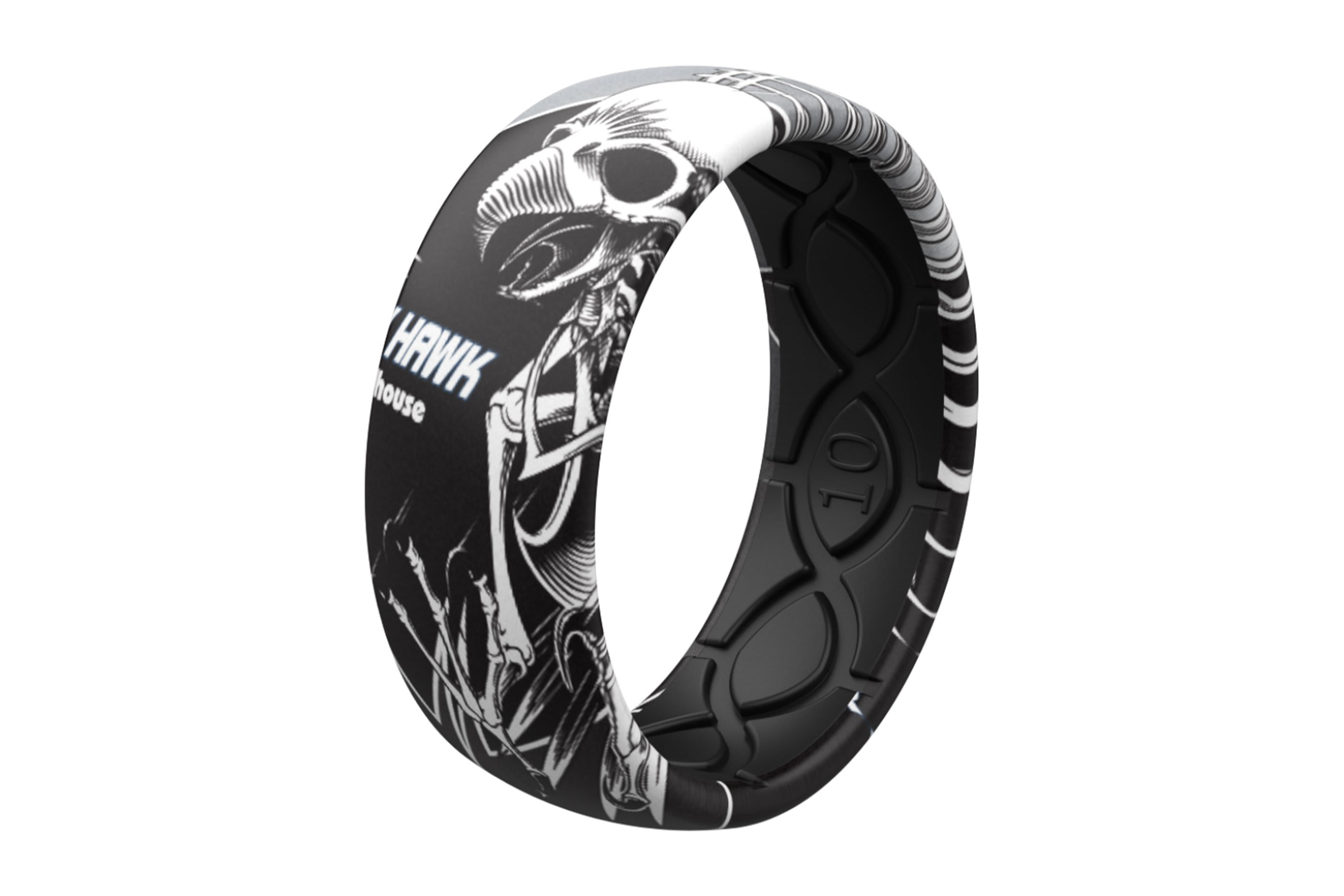 Full Hawk Ring  viewed on its side  viewed on its side