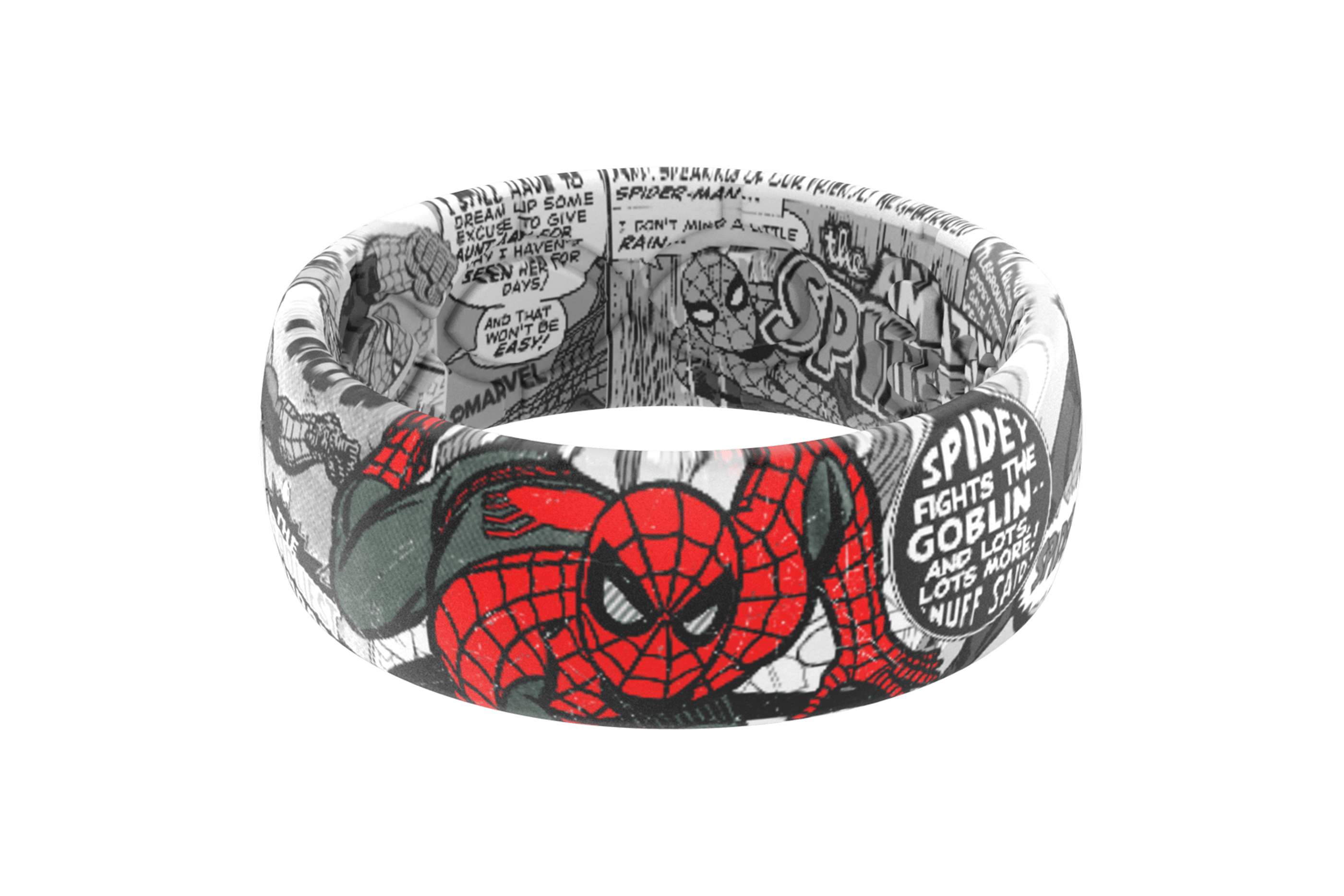 Spider-Man Black and White Comic  viewed front on