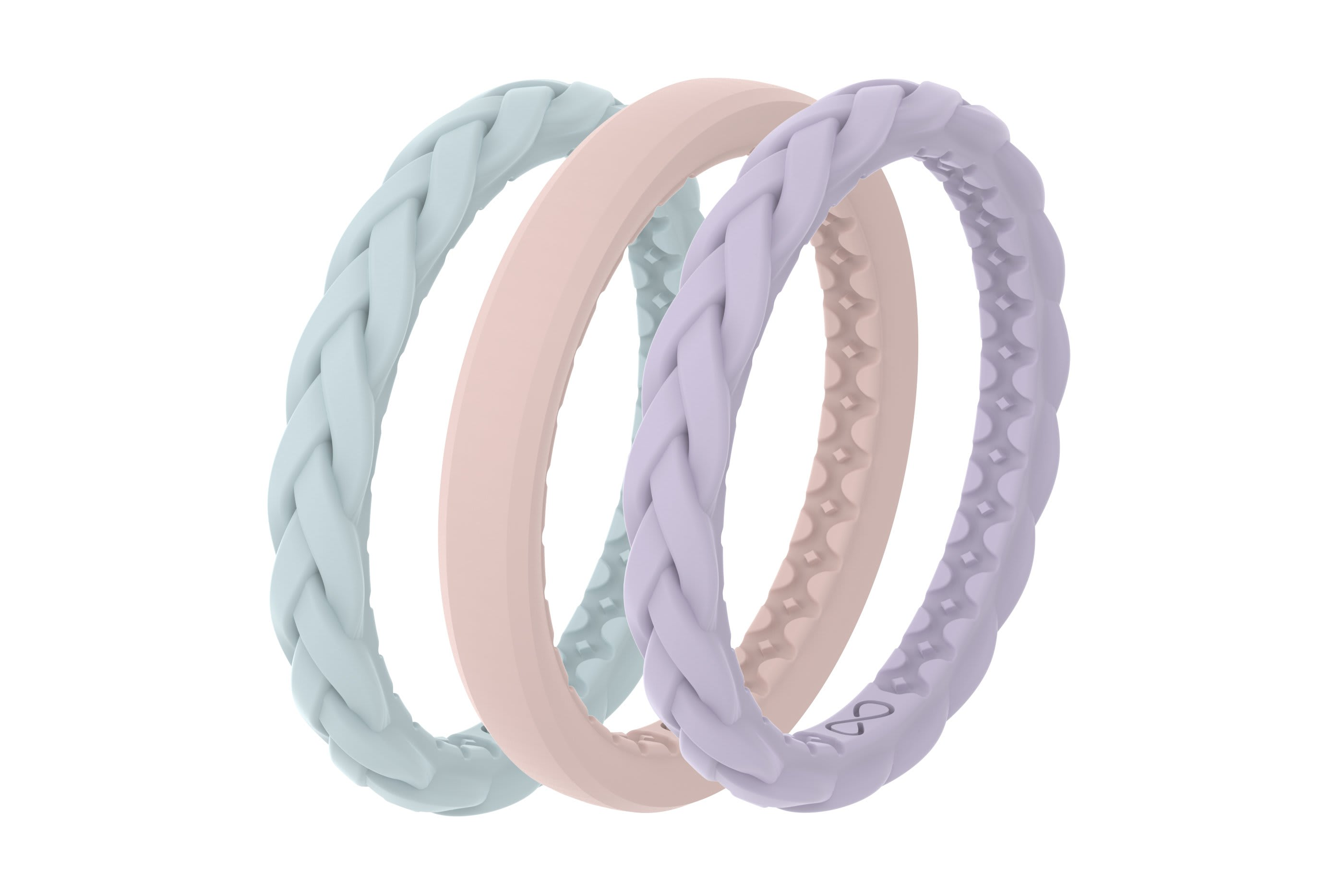 Pastel Sky - Stackable Ring  viewed from side