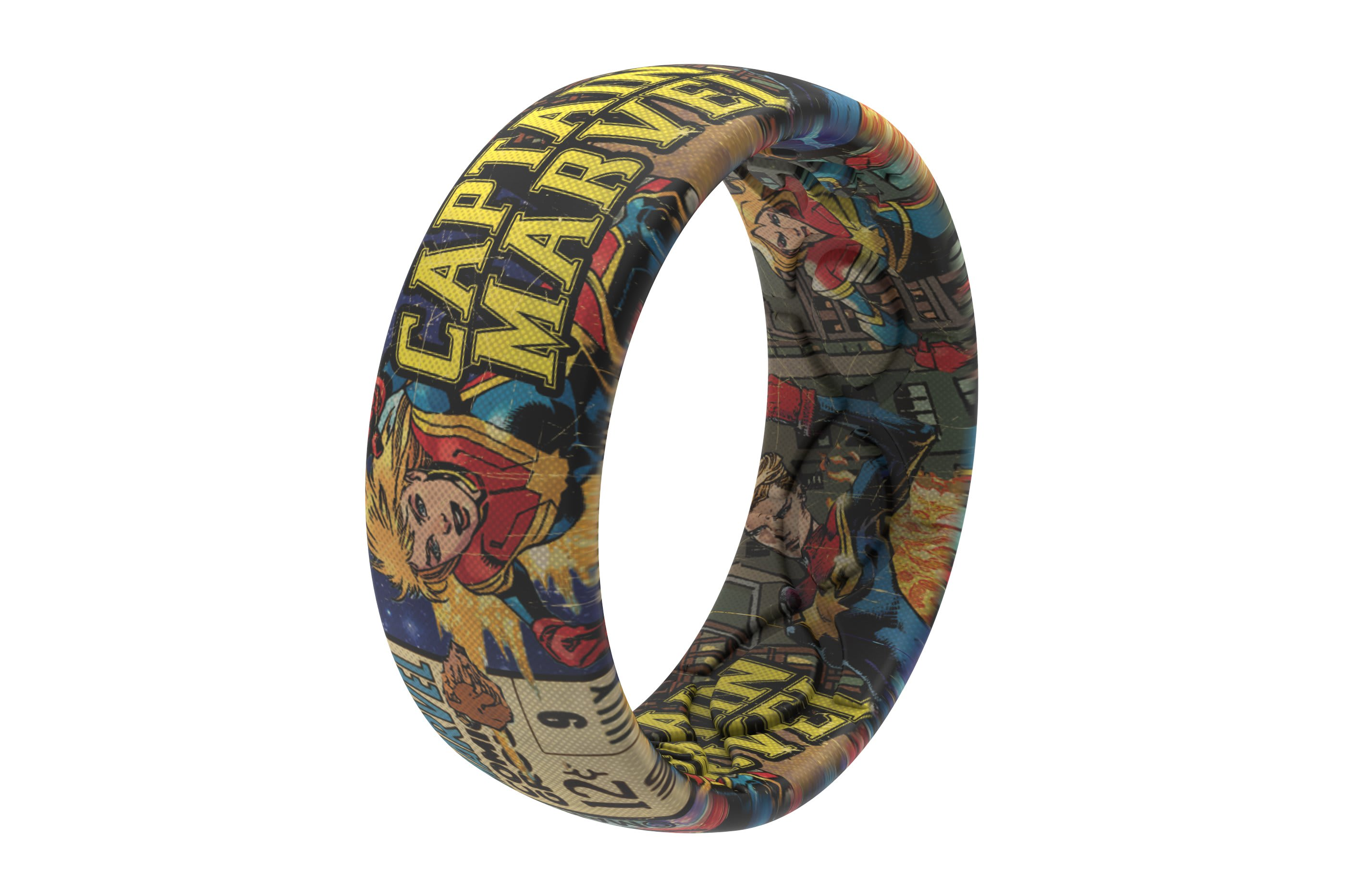 Captain Marvel Classic Comic Ring | Groove Life
