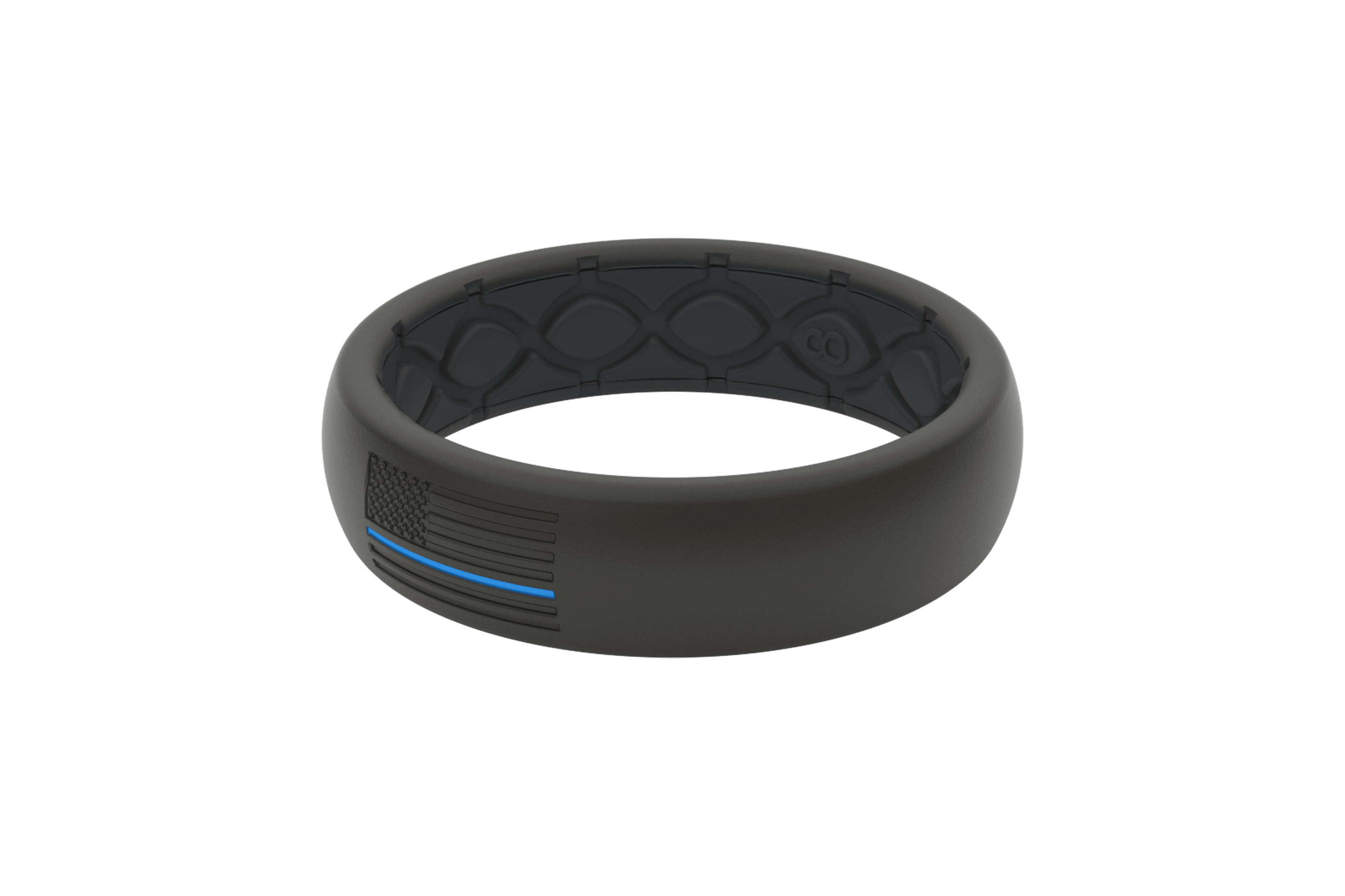 Thin Protector Police Blue - Groove Life Silicone Wedding Rings