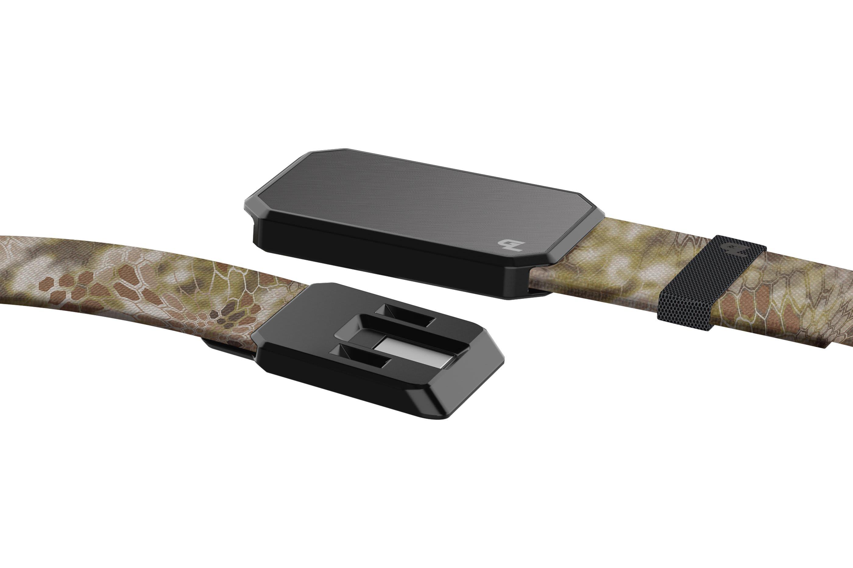 Groove Belt Kryptek Highlander Gun Metal close up on buckle