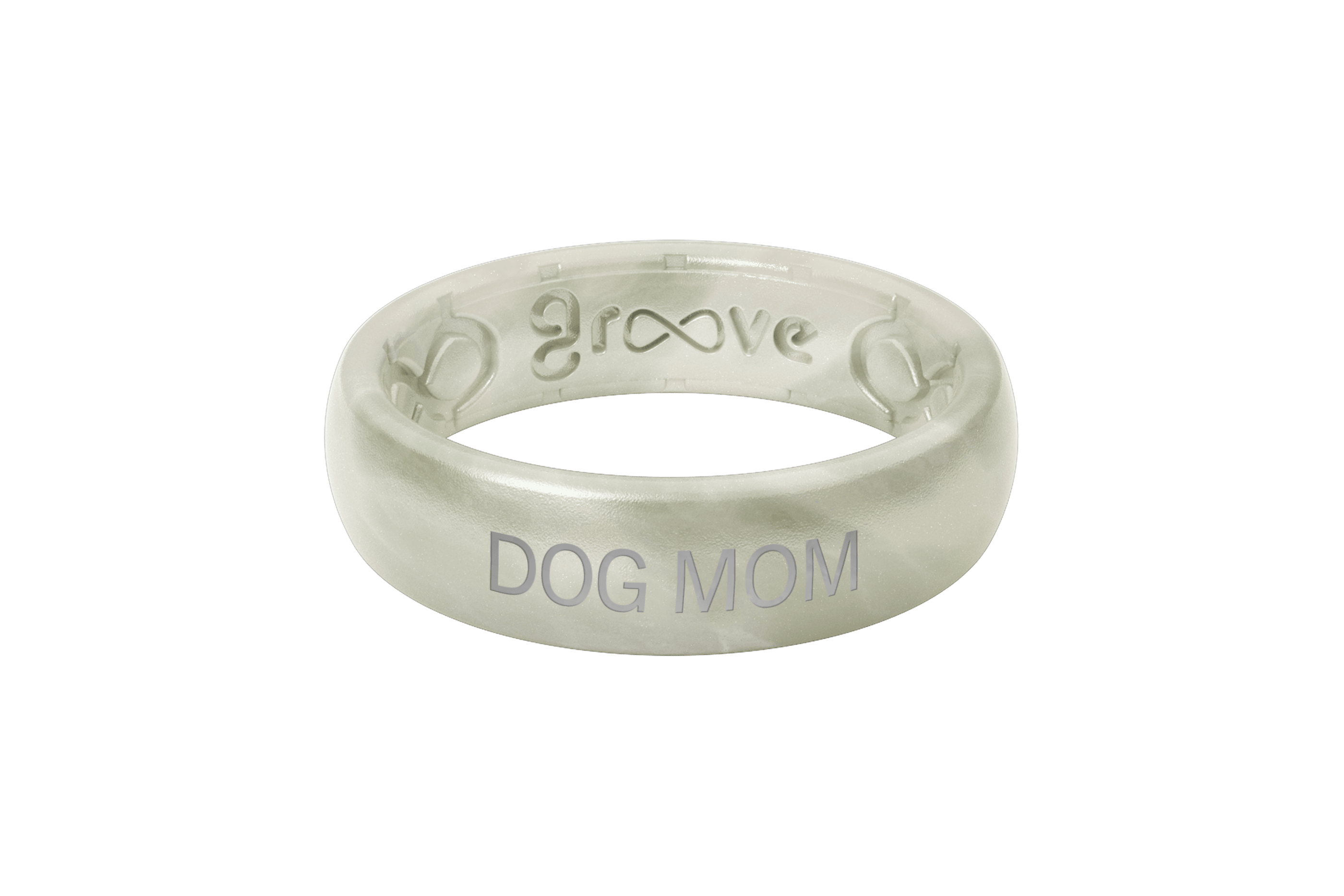Pearl Dog Mom  viewed front on