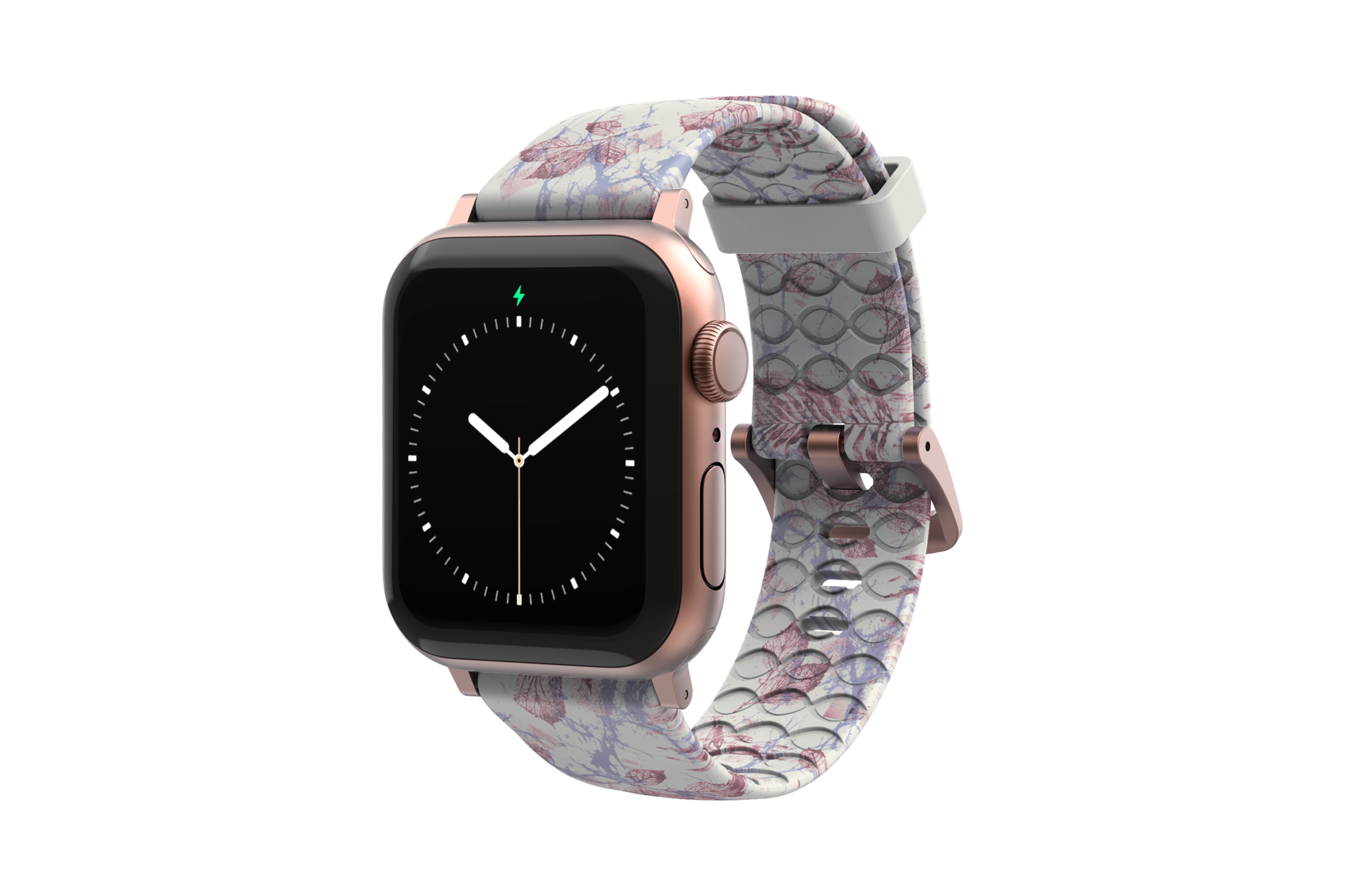 Breeze - Apple Watch Band with rose gold hardware viewed front on