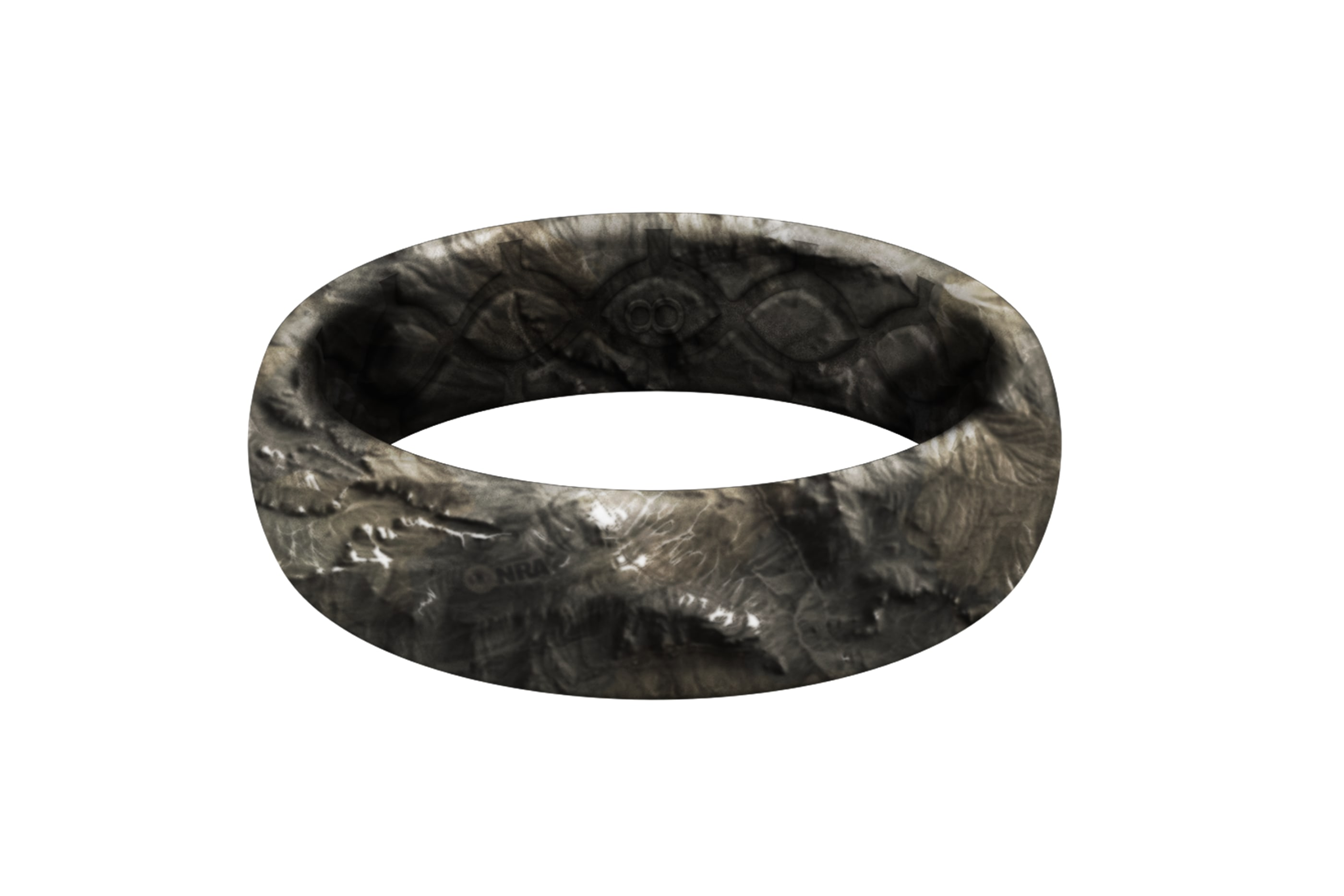 Mossy Oak NRA Overwatch Camo thin ring viewed front on