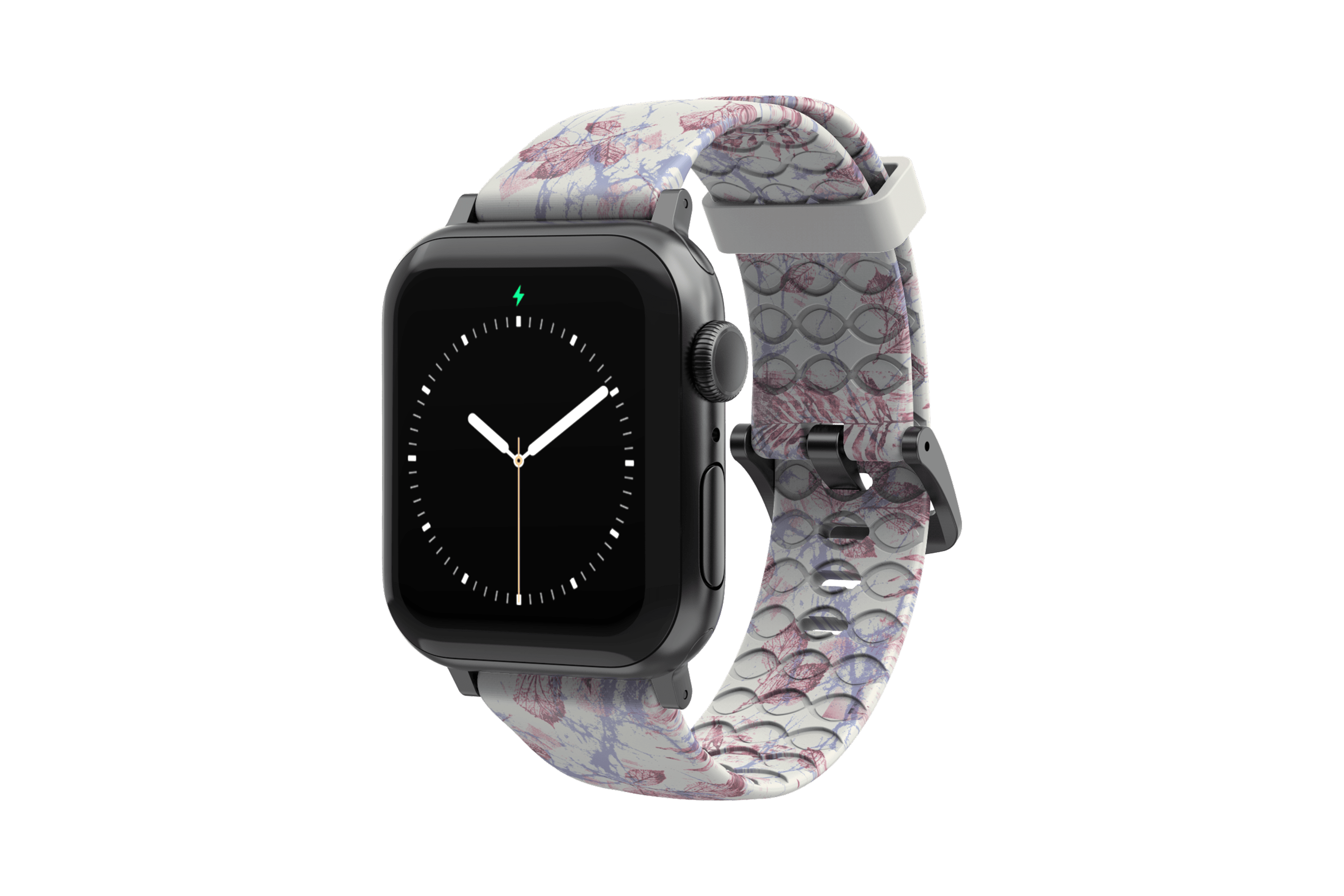 Breeze - Apple Watch Band with gray hardware viewed front on
