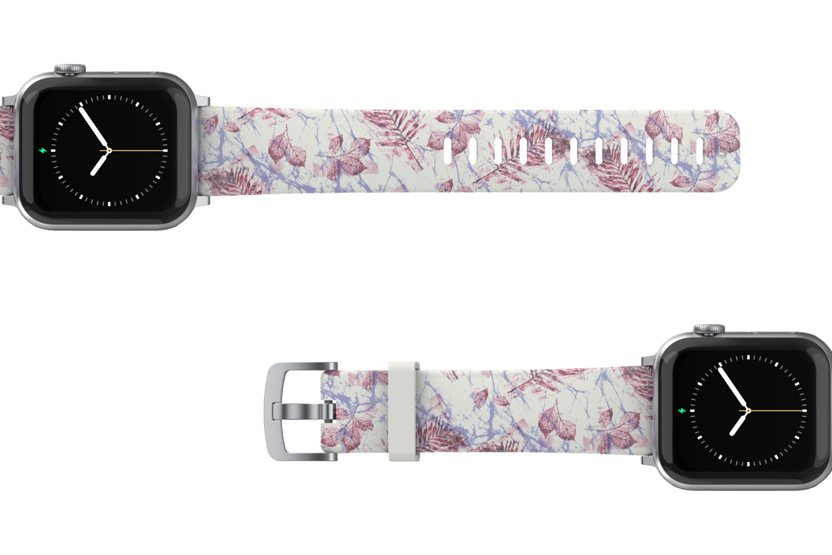 Breeze Apple Watch Band with gray hardware viewed top down