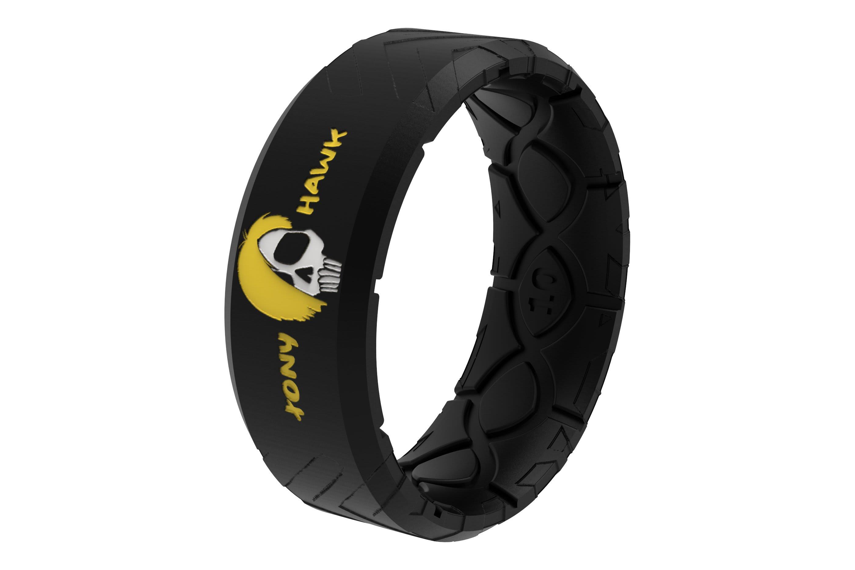 Tony Hawk Skate + Die Ring viewed on its side