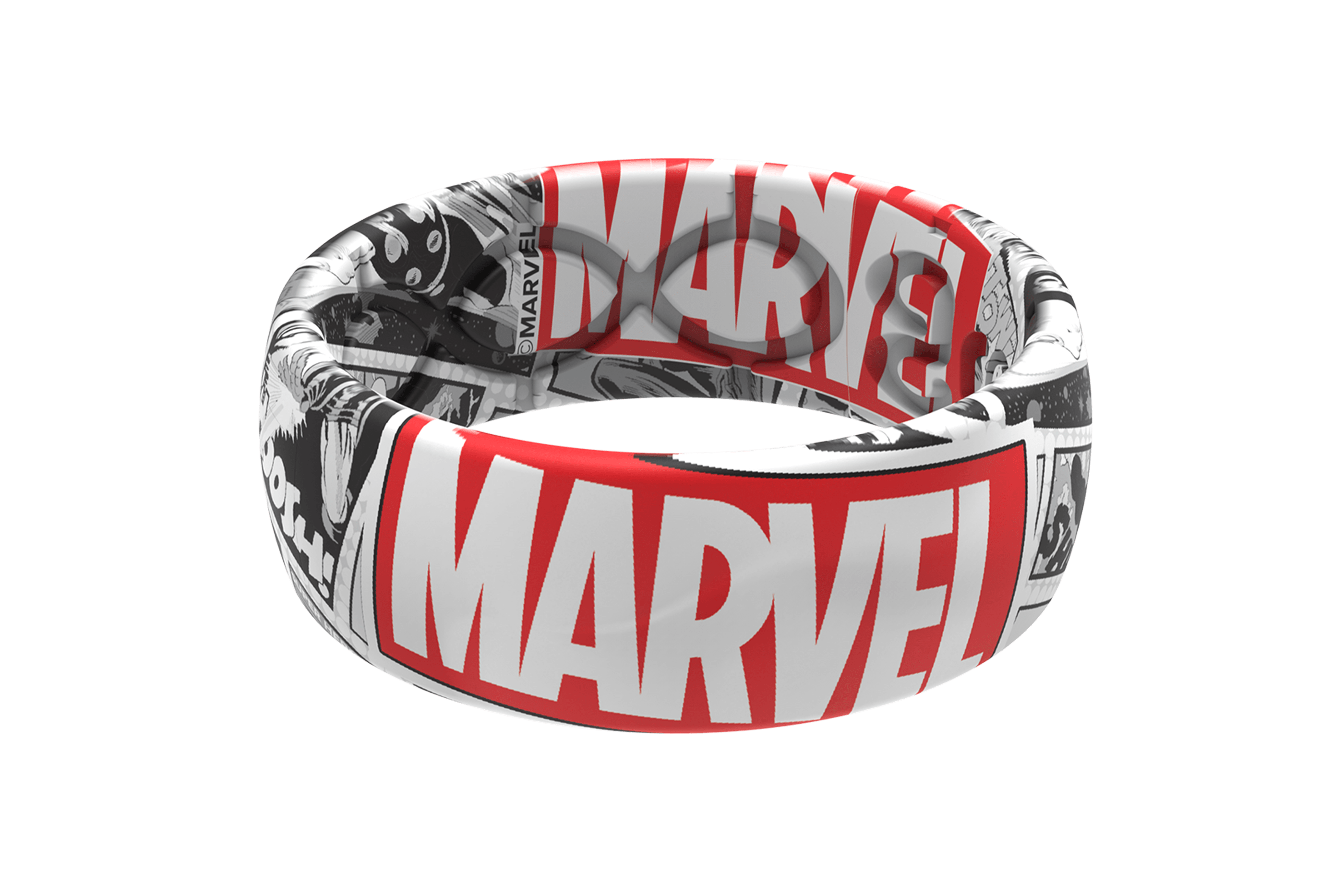 Marvel Black and White Comic  viewed front on