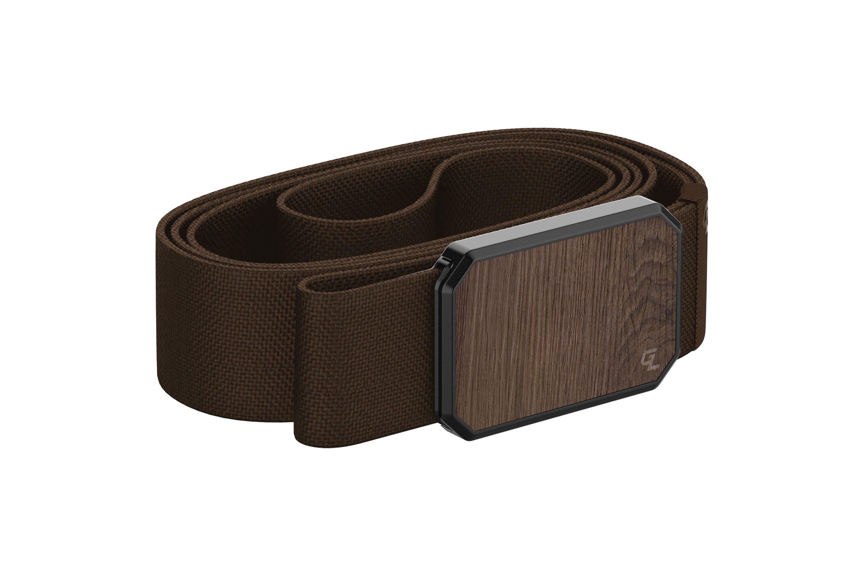 Groove Belt Walnut/Brown  viewed from side