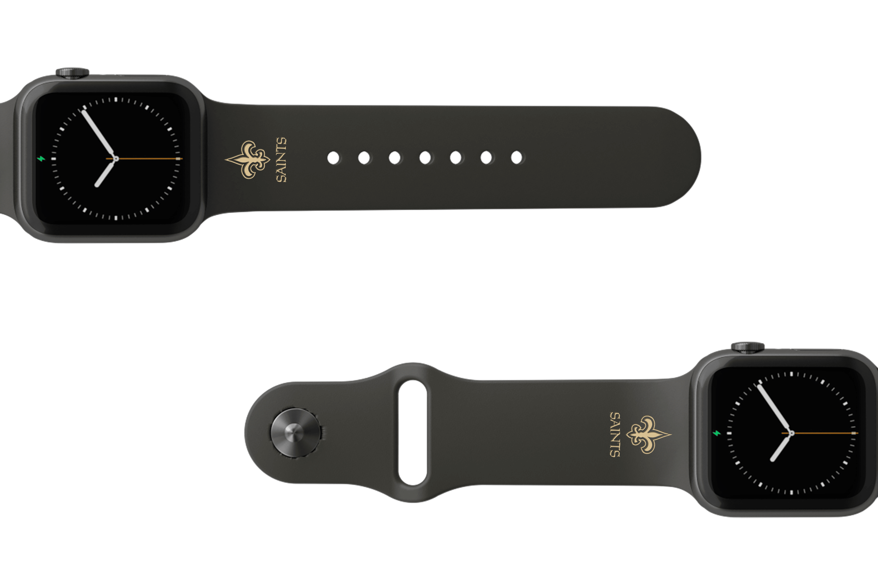 Apple Watch Band NFL New Orleans Saints Black - Groove Life