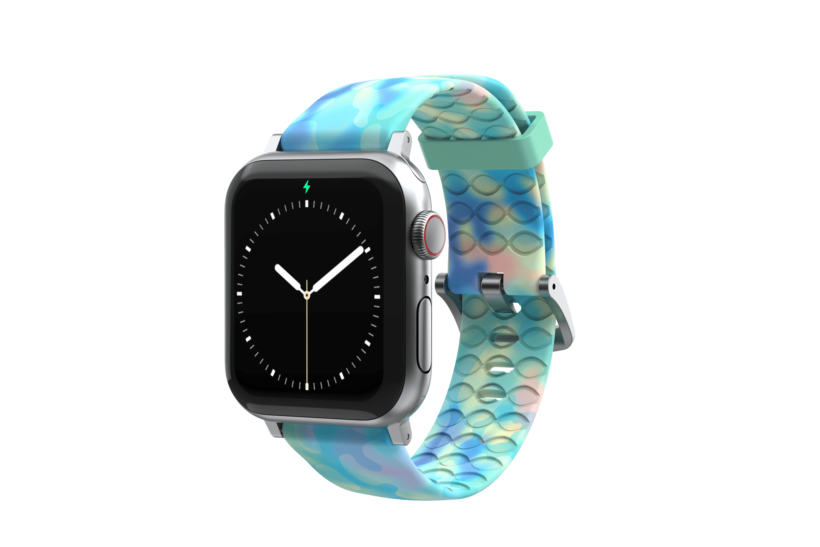 Opal - Apple Watch Band with silver hardware viewed front on