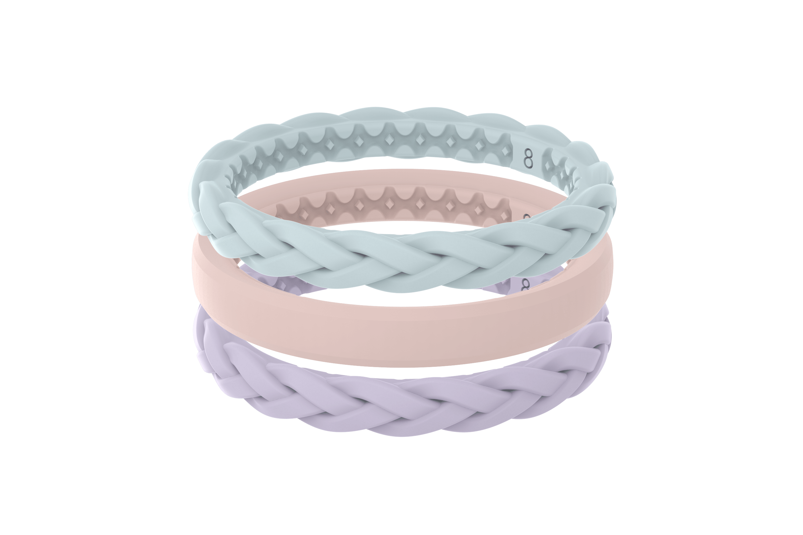 Pastel Sky - Stackable Ring viewed front on