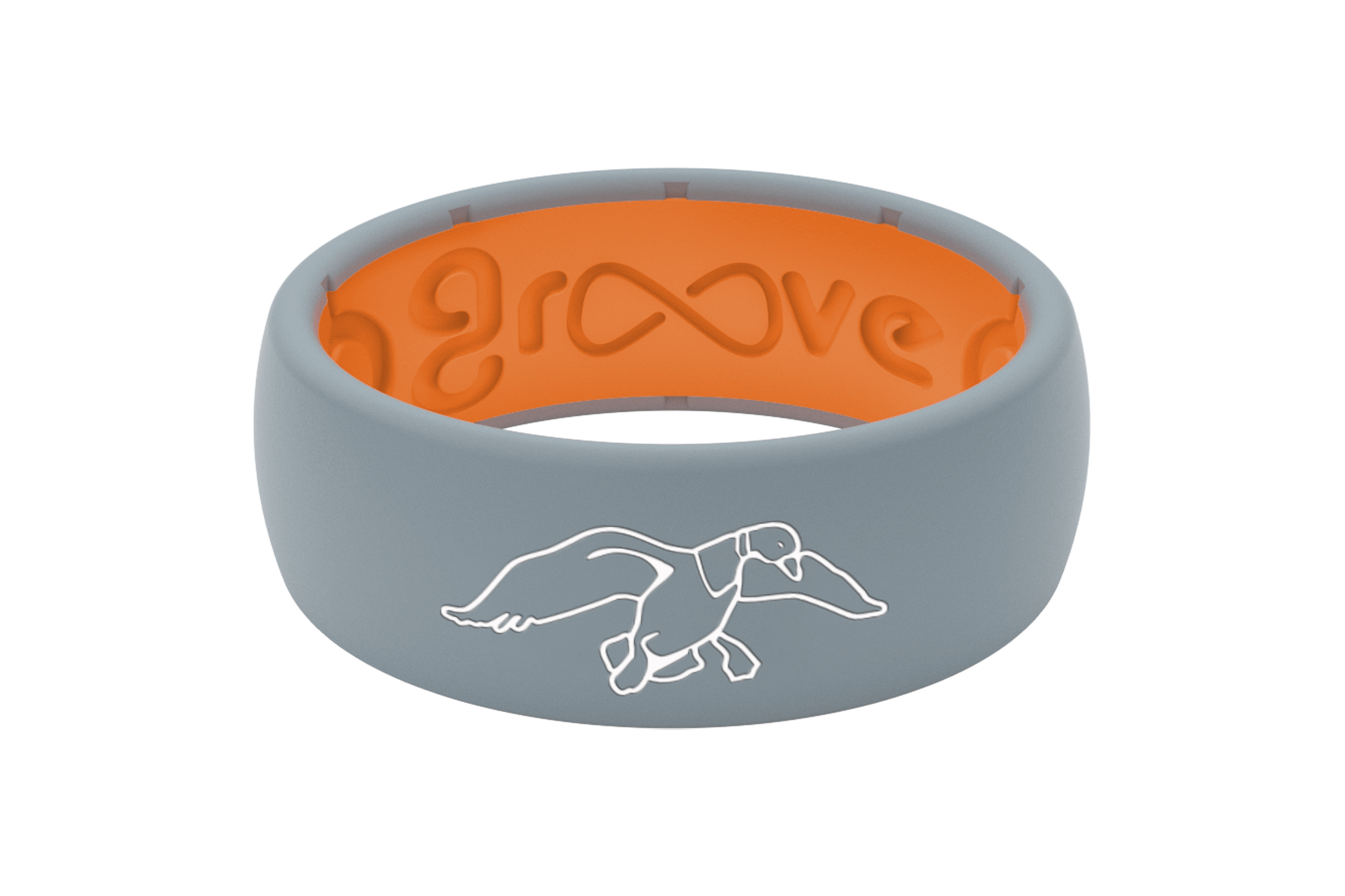 Duck Commander Storm Grey  viewed front on Wedding Rings