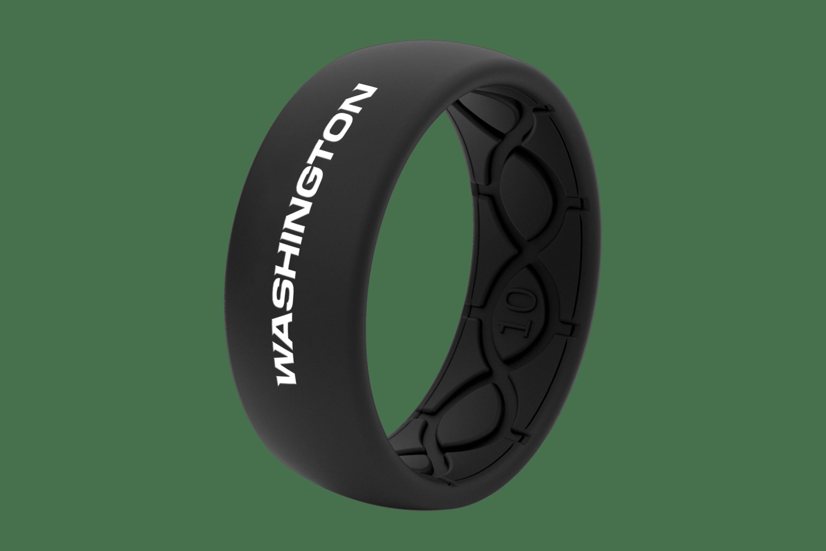 Original NFL Washington Black - Groove Life Silicone Wedding Rings