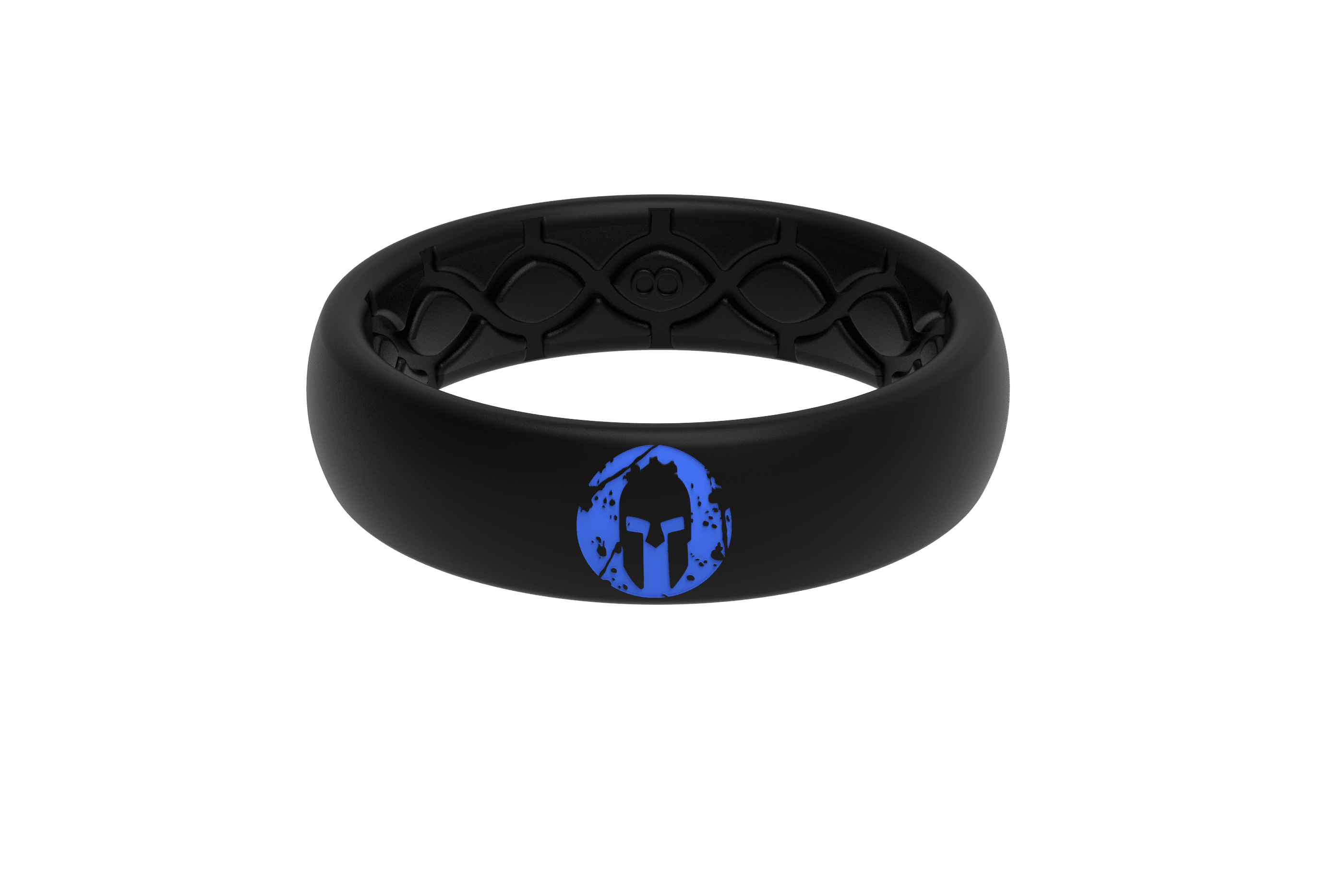 Thin Spartan Super Blue - Groove Life Silicone Wedding Rings