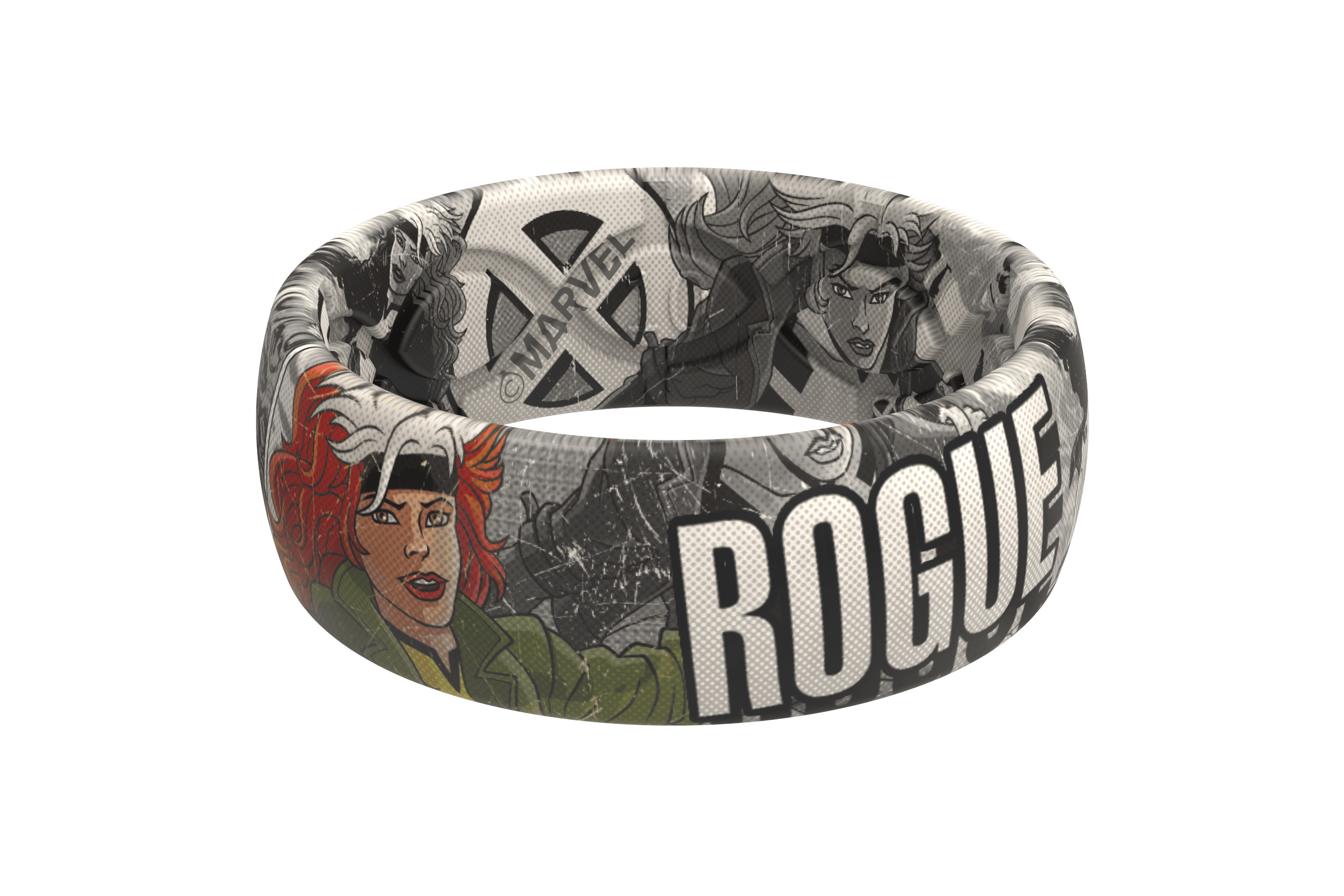Rogue Black and White Comic Ring   Groove Life