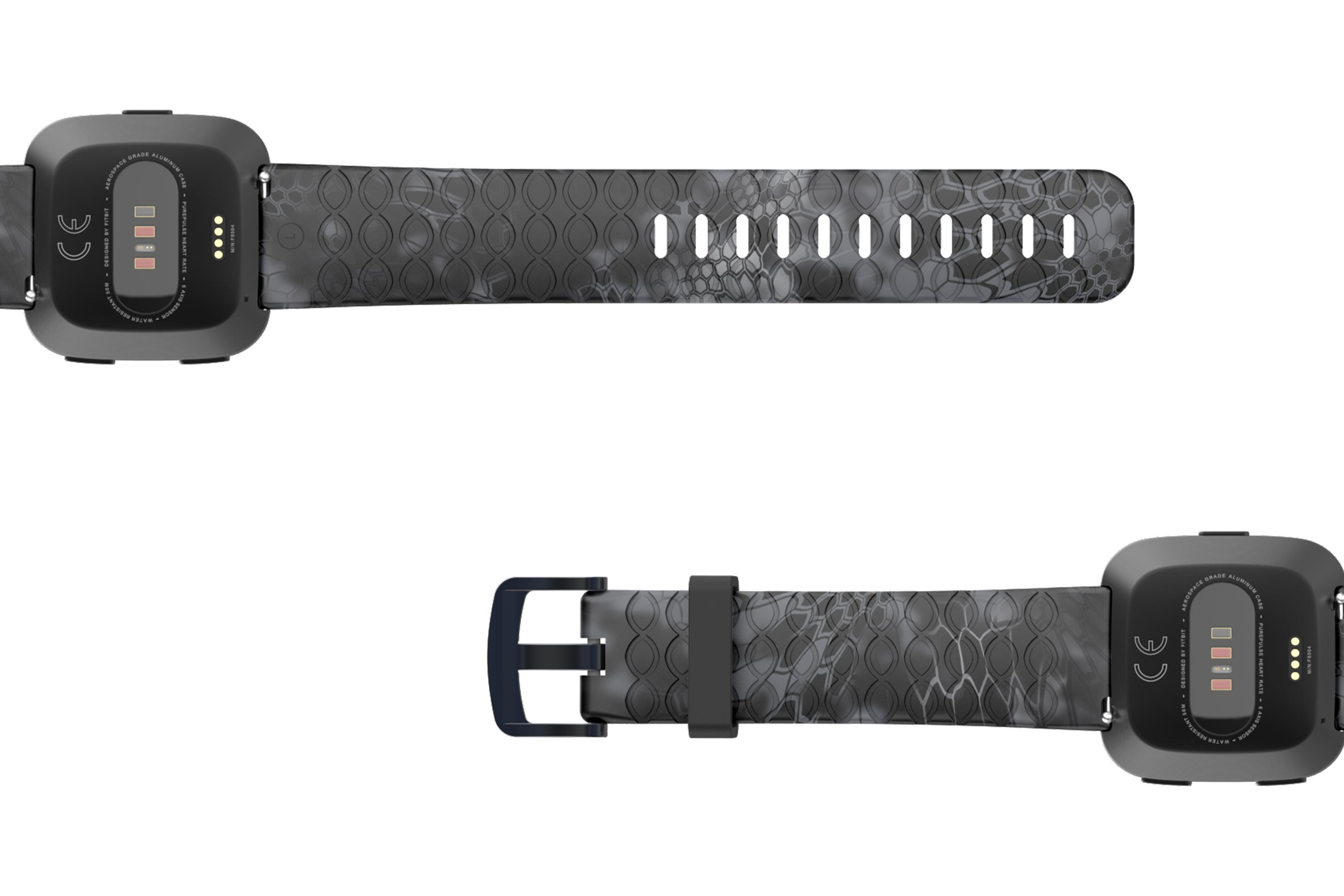 Kryptek Typhon Samsung 22mm   watch band viewed bottom up