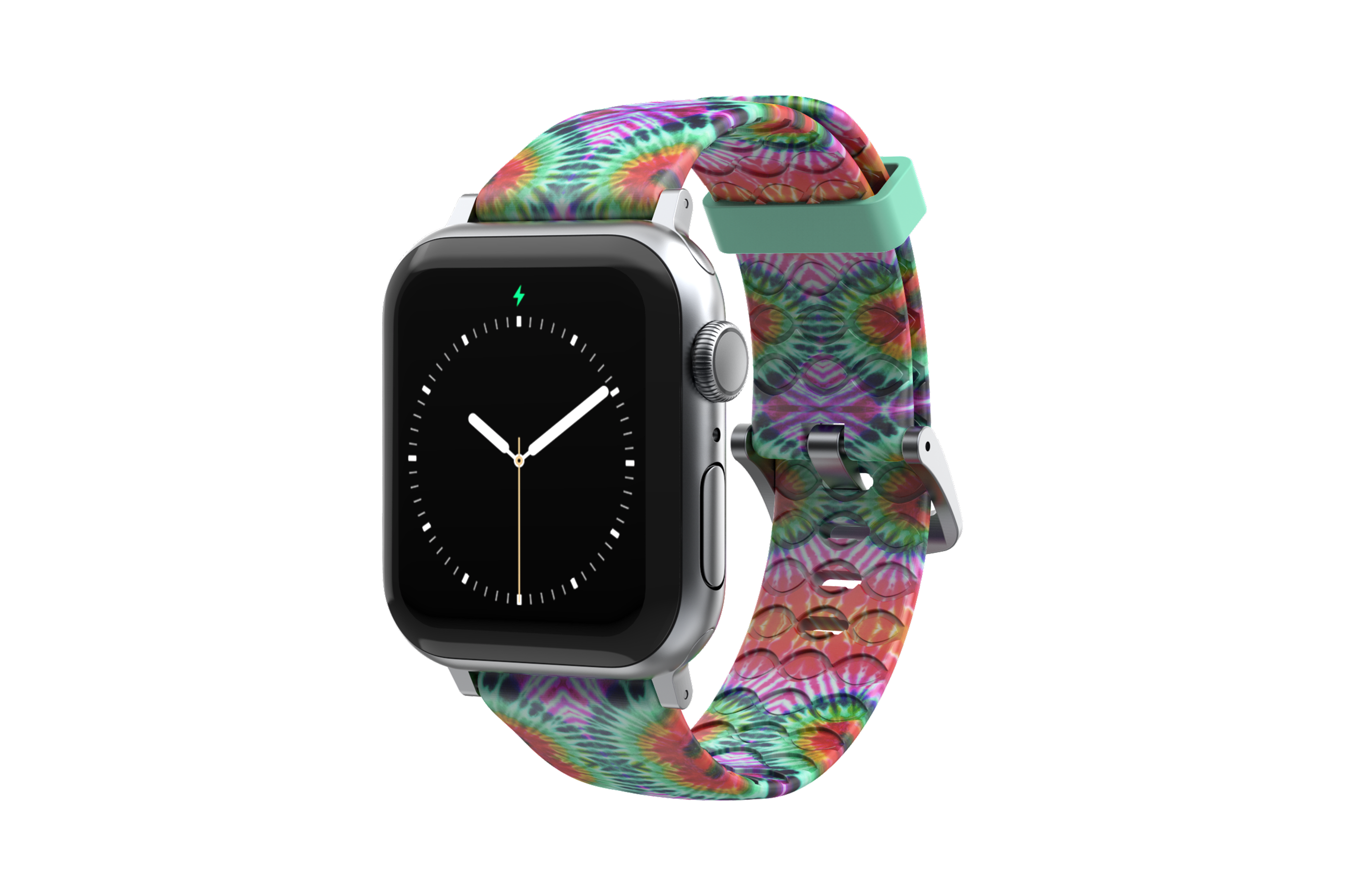 Gypsy Eyes Apple Watch Band with silver hardware viewed front on