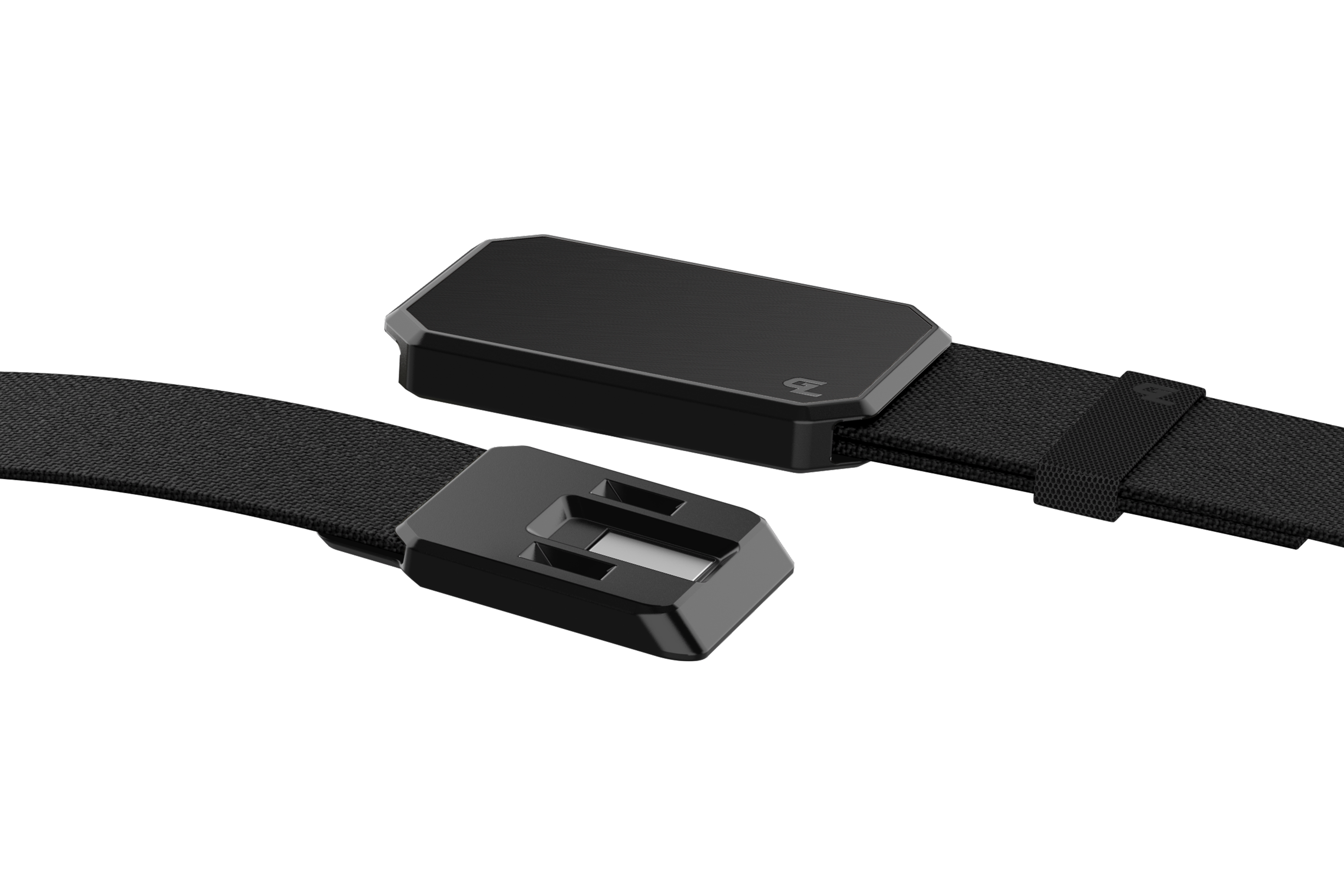 Groove Belt Black/Black close up on buckle