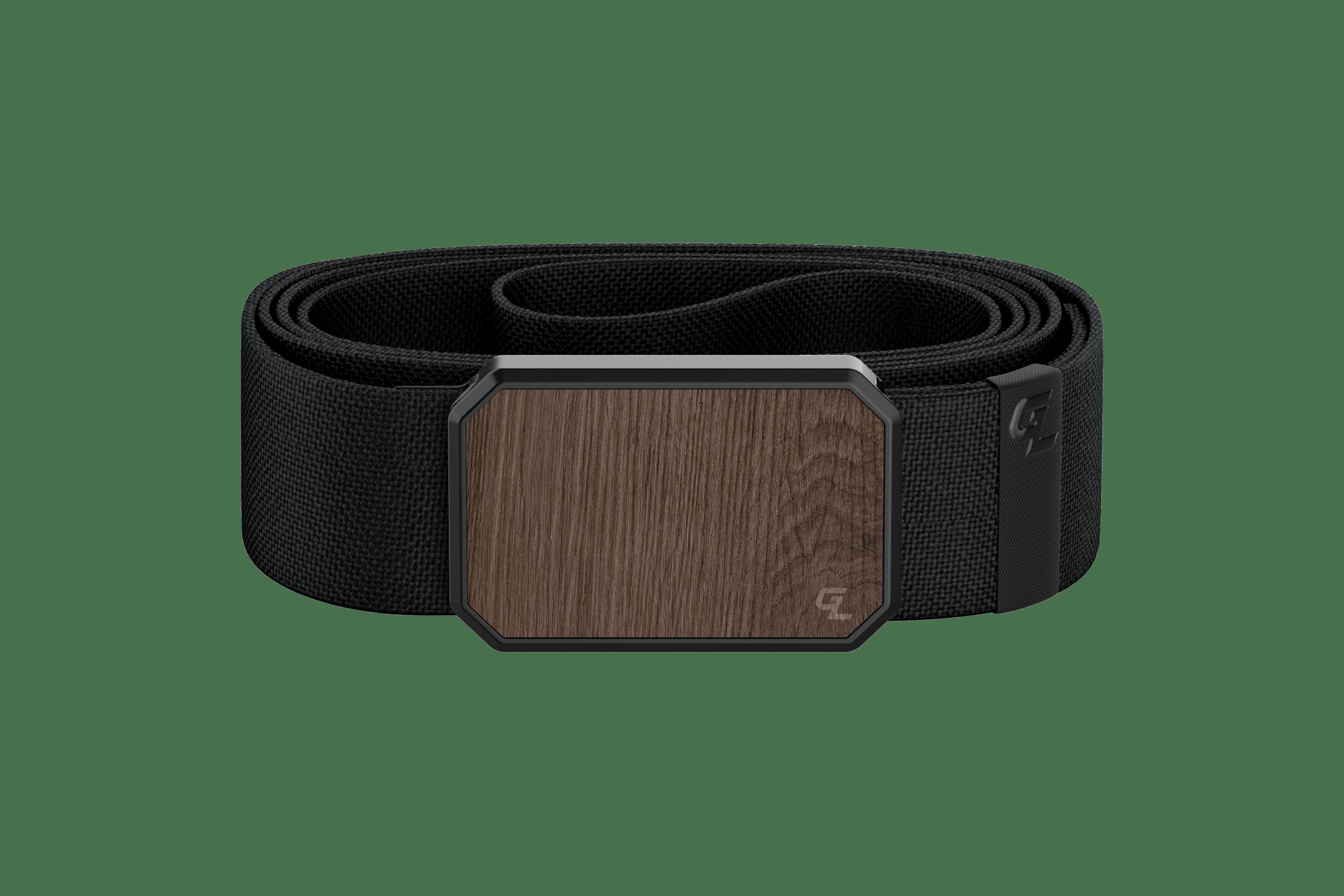 Groove Belt Walnut/Black  viewed front on