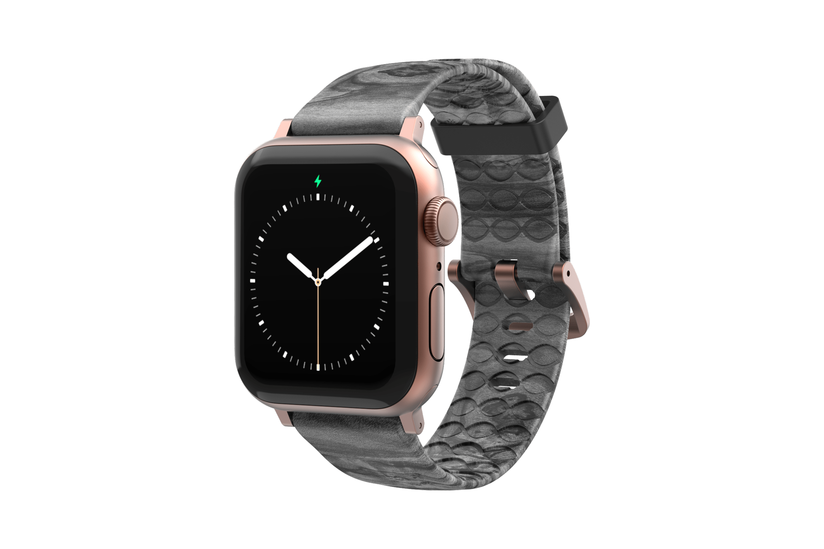 Nomad Relic - Apple Watch Band with rose gold hardware viewed front on