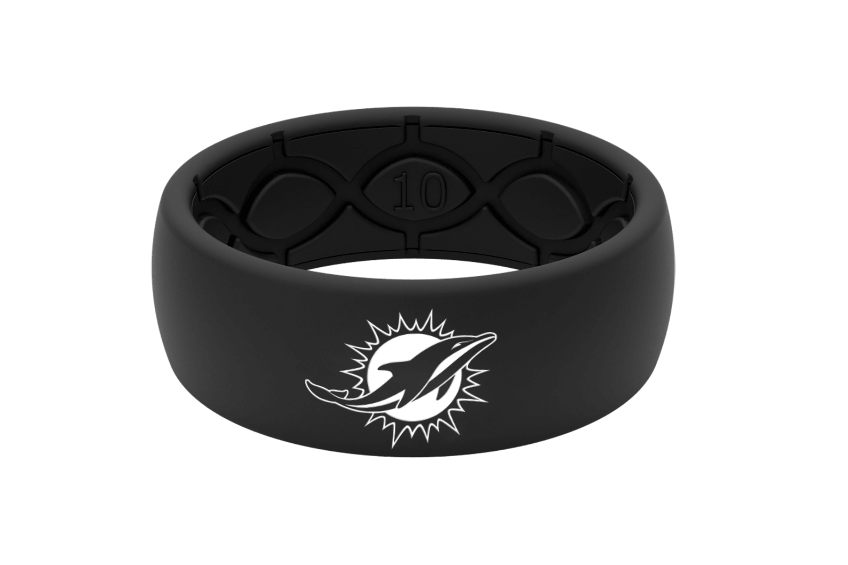 Original NFL Miami Dolphins Black - Groove Life Silicone Wedding Rings