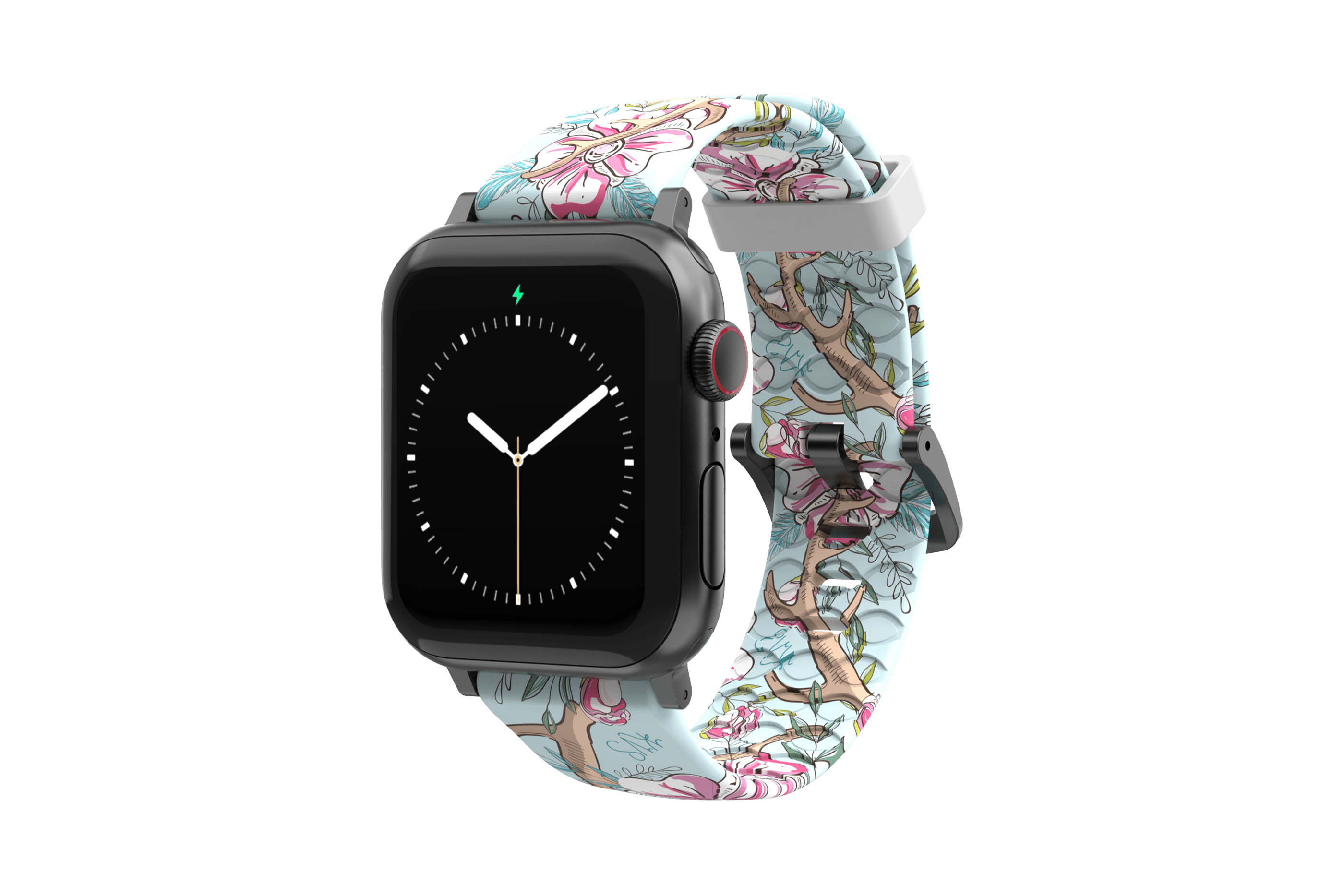 Love Deerly - Katie Van Slyke  apple watch band with silver hardware viewed from rear