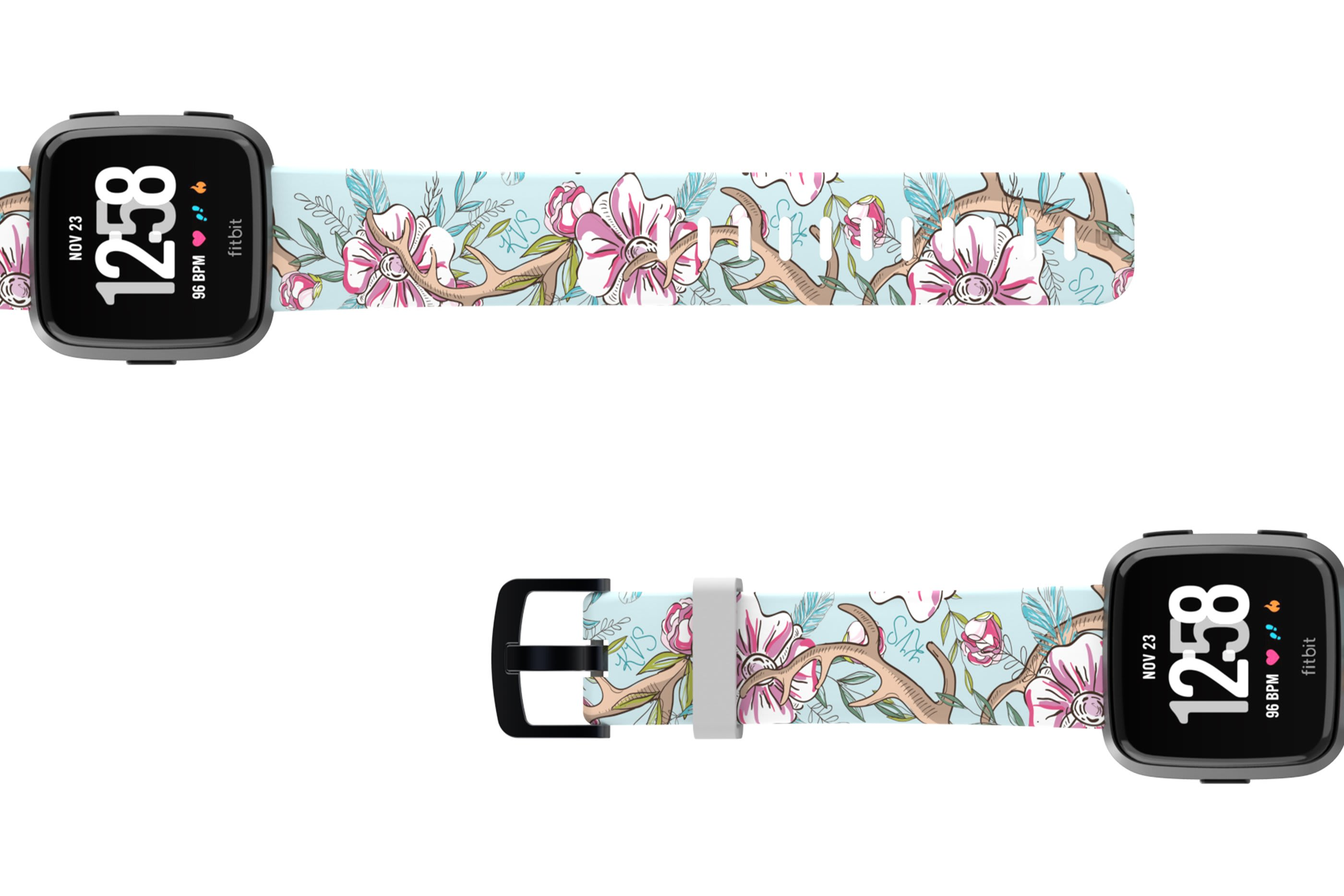 Love Deerly - Katie Van Slyke Fitbit watch band viewed top down