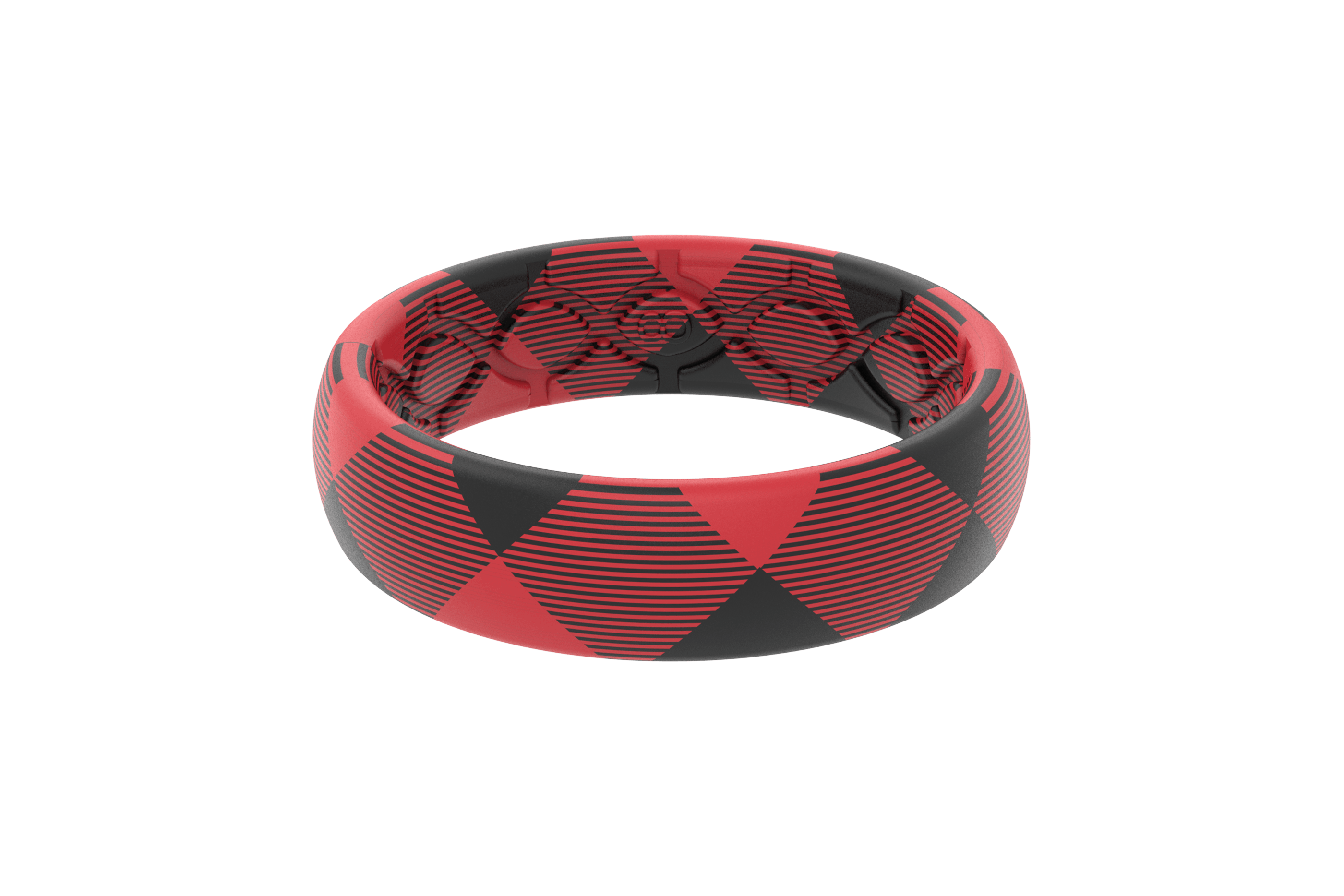Thin Buffalo  viewed front on Silicone Rings