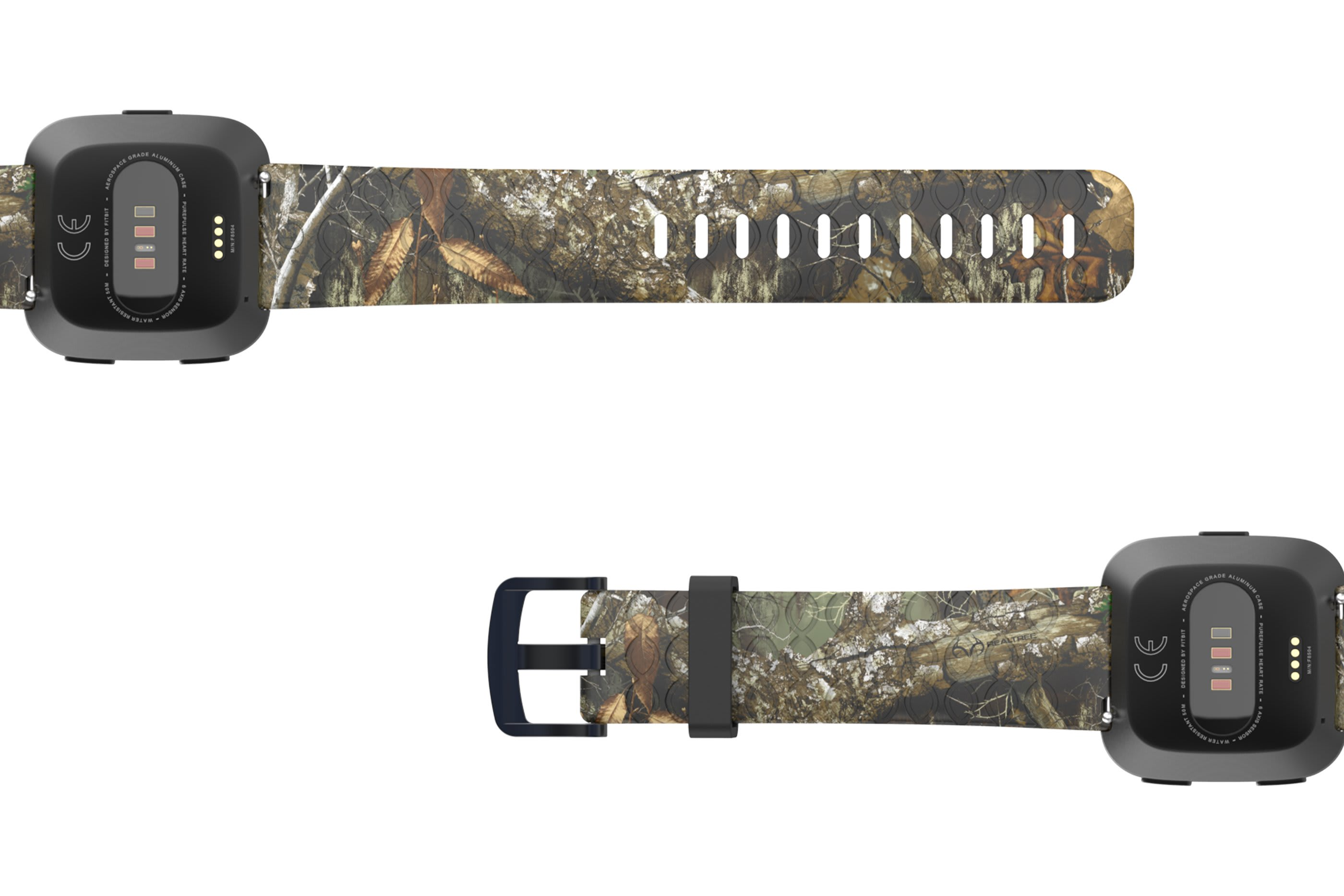 Realtree Edge Fitbit Versa   watch band viewed bottom up