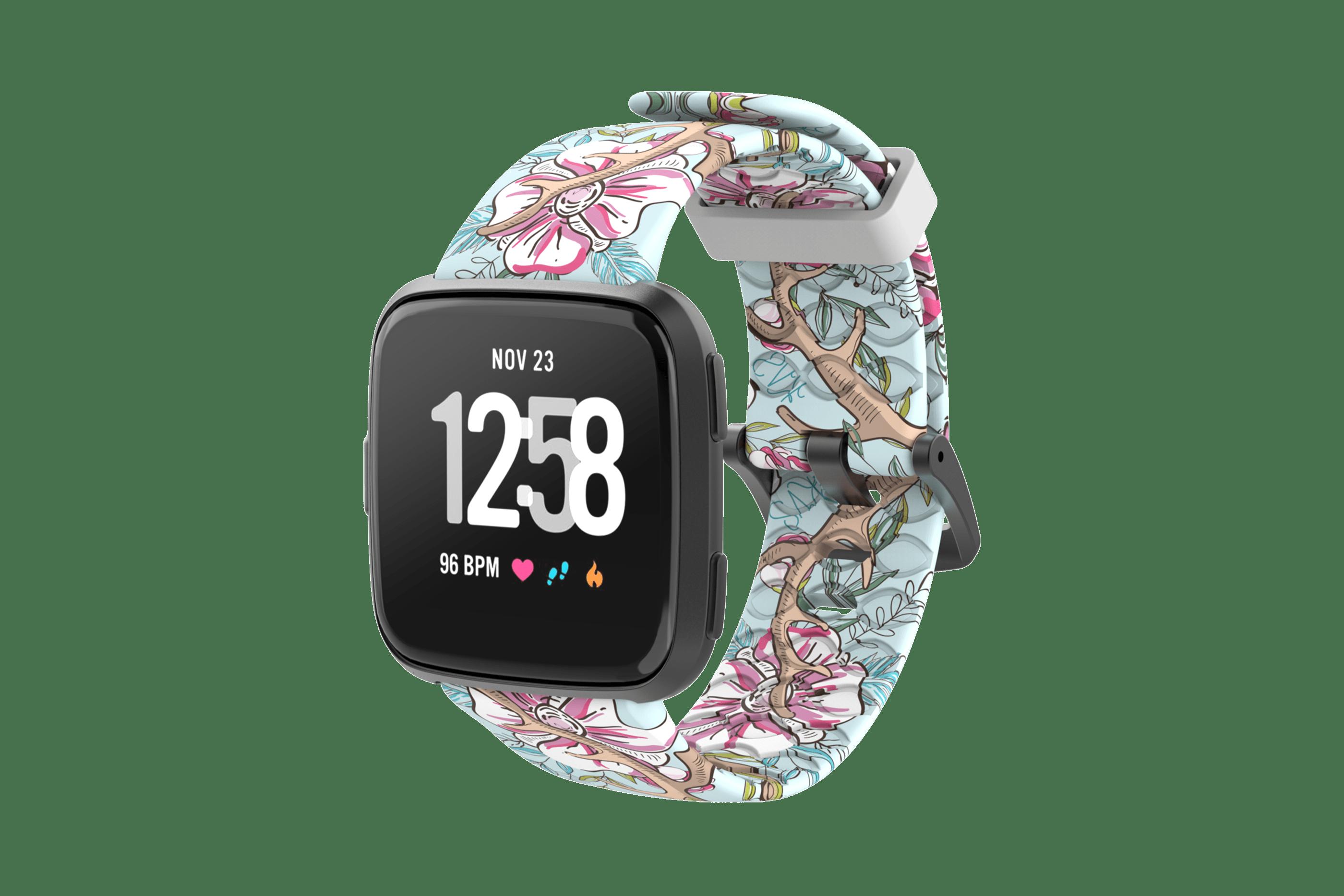 Love Deerly - Katie Van Slyke Fitbit Watch Bandwith gray hardware  viewed front on