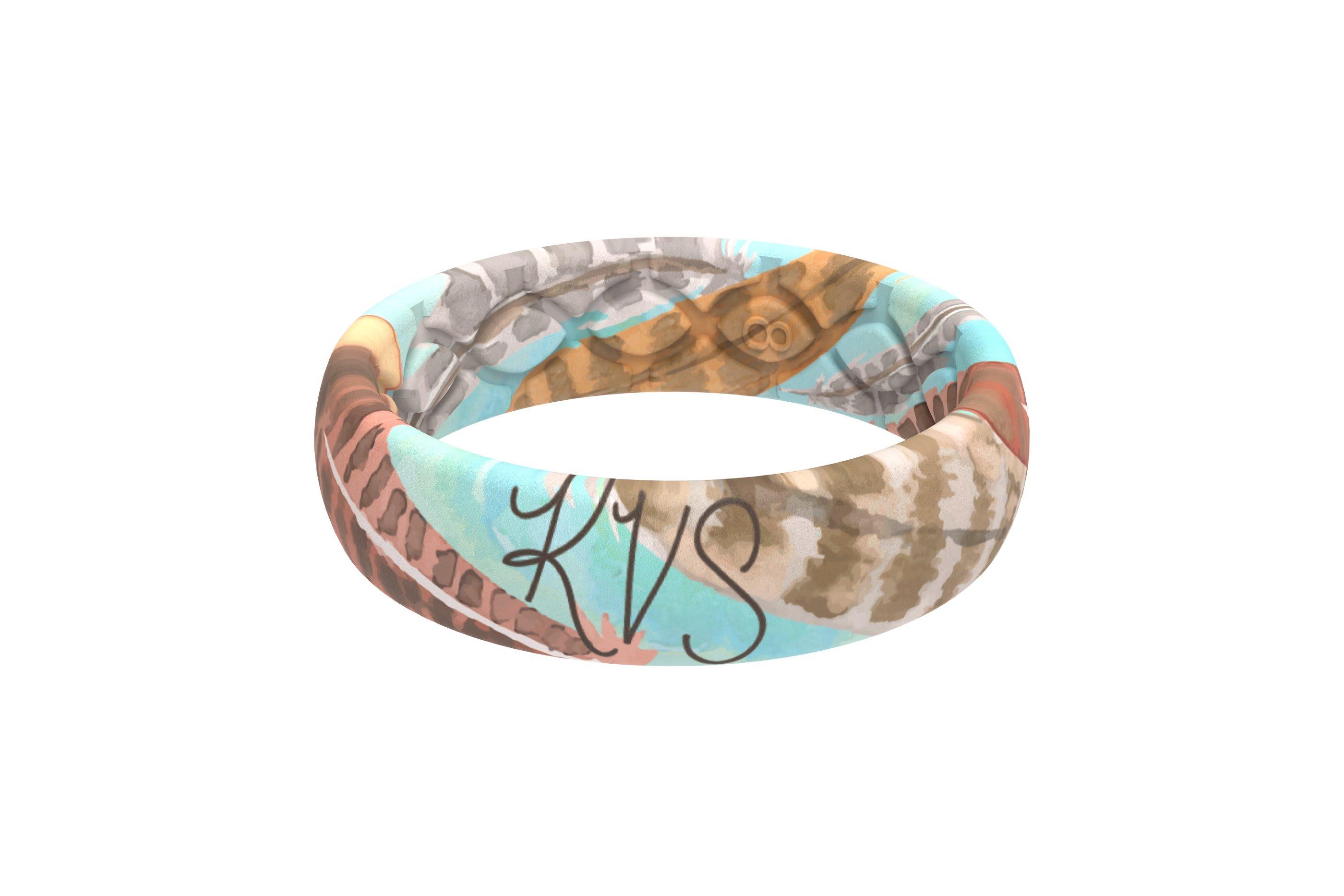 Brave - Katie Van Slyke Signature Ring  viewed from side