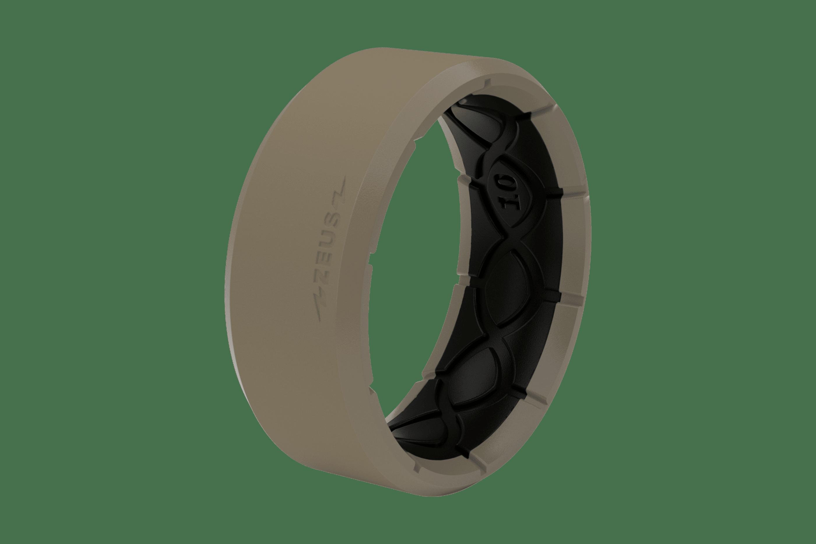 Zeus Edge Flat Earth/Black - Groove Life Silicone Wedding Rings