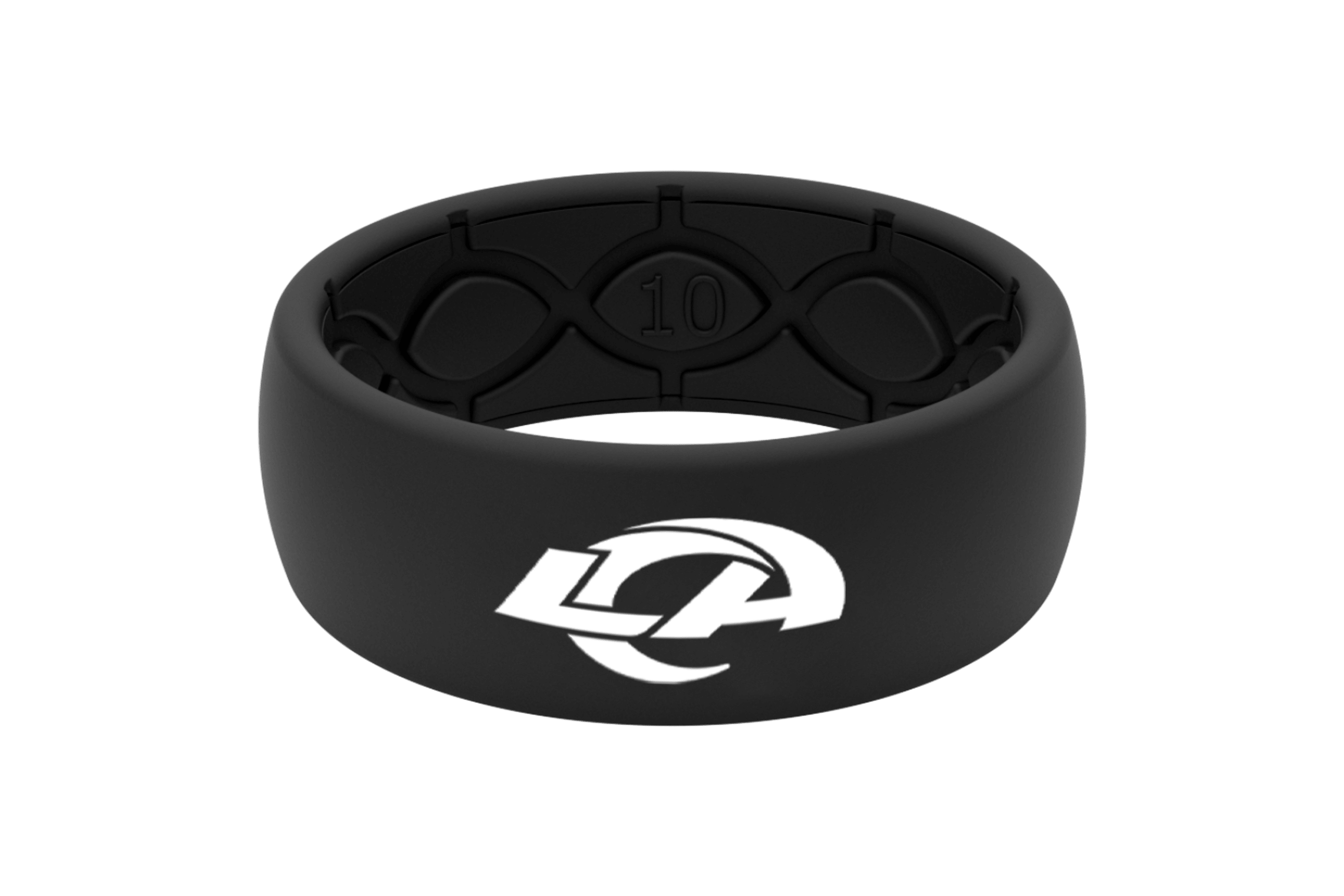 Original NFL Los Angeles Rams Black - Groove Life Silicone Wedding Rings