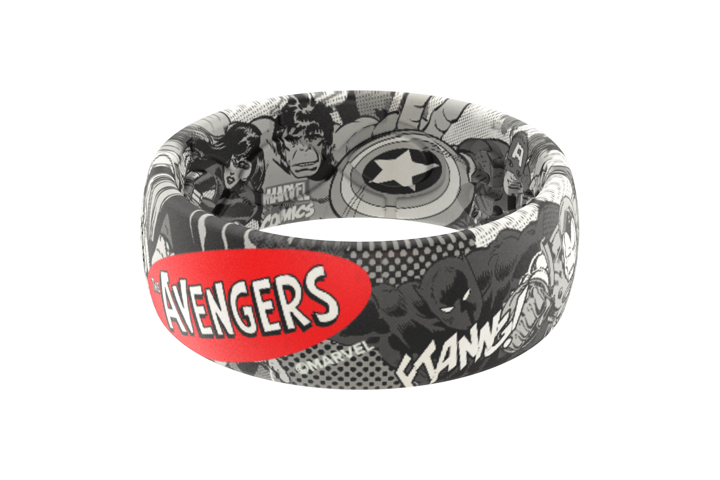 Avengers Black and White Comic  viewed front on